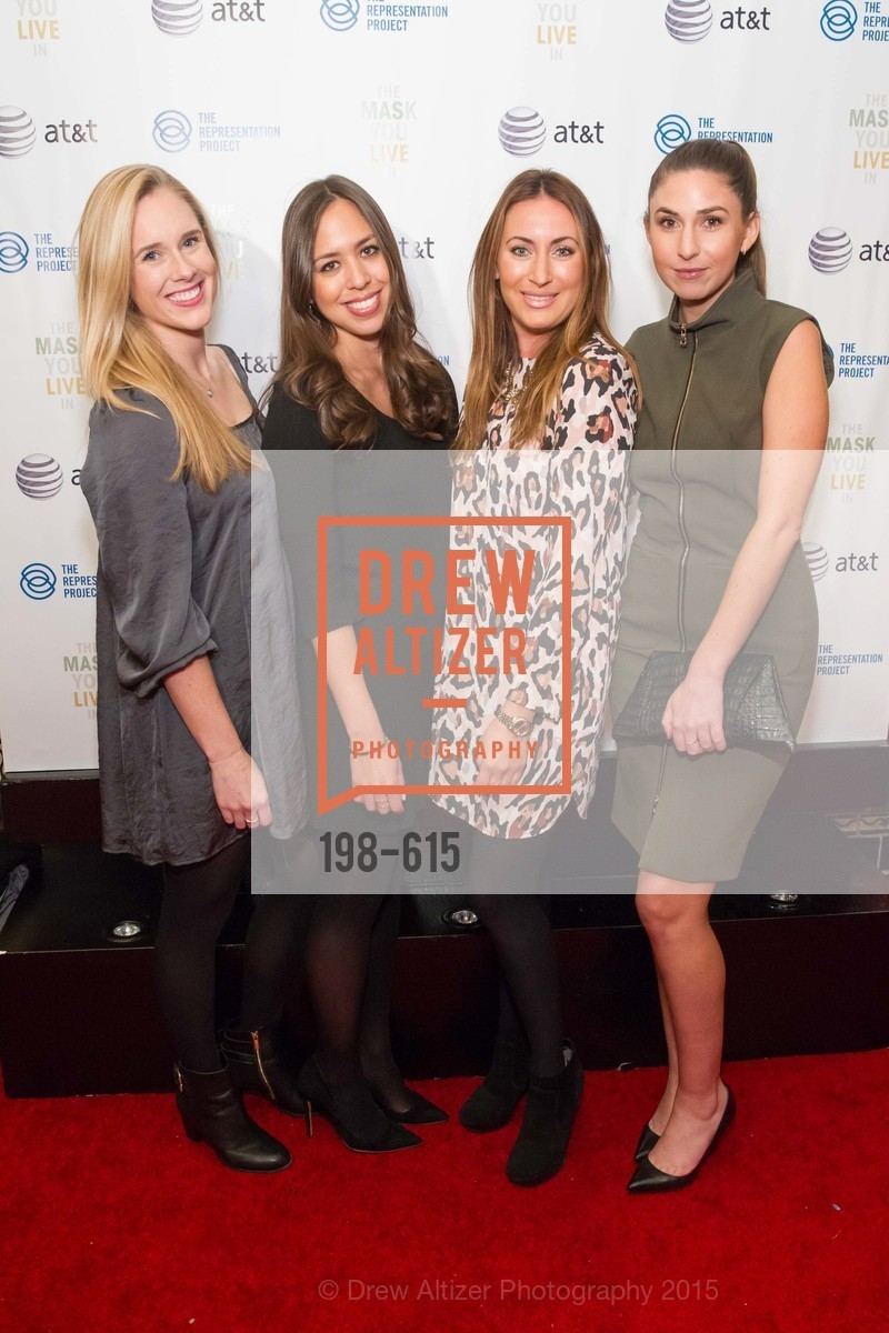 Katya Rakovich, Sloan Lehman, Tara Schwartz, Olivia Stutz, Jennifer Siebel Newsom's Castro Screening The Mask You Live In, Castro Theatre. 429 Castro Street, December 2nd, 2015,Drew Altizer, Drew Altizer Photography, full-service agency, private events, San Francisco photographer, photographer california