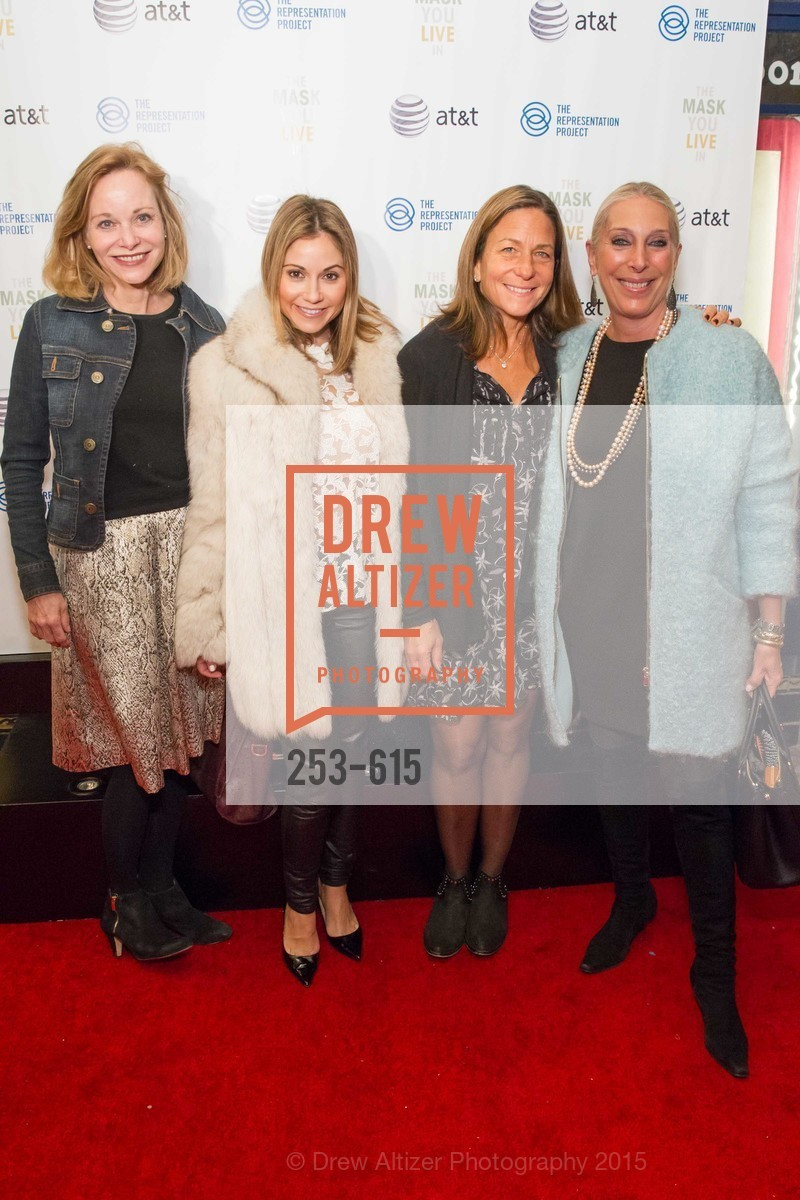 Janice Zakin, Monica Potter, Marcy Brant, Betsy Linder, Jennifer Siebel Newsom's Castro Screening The Mask You Live In, Castro Theatre. 429 Castro Street, December 2nd, 2015,Drew Altizer, Drew Altizer Photography, full-service agency, private events, San Francisco photographer, photographer california