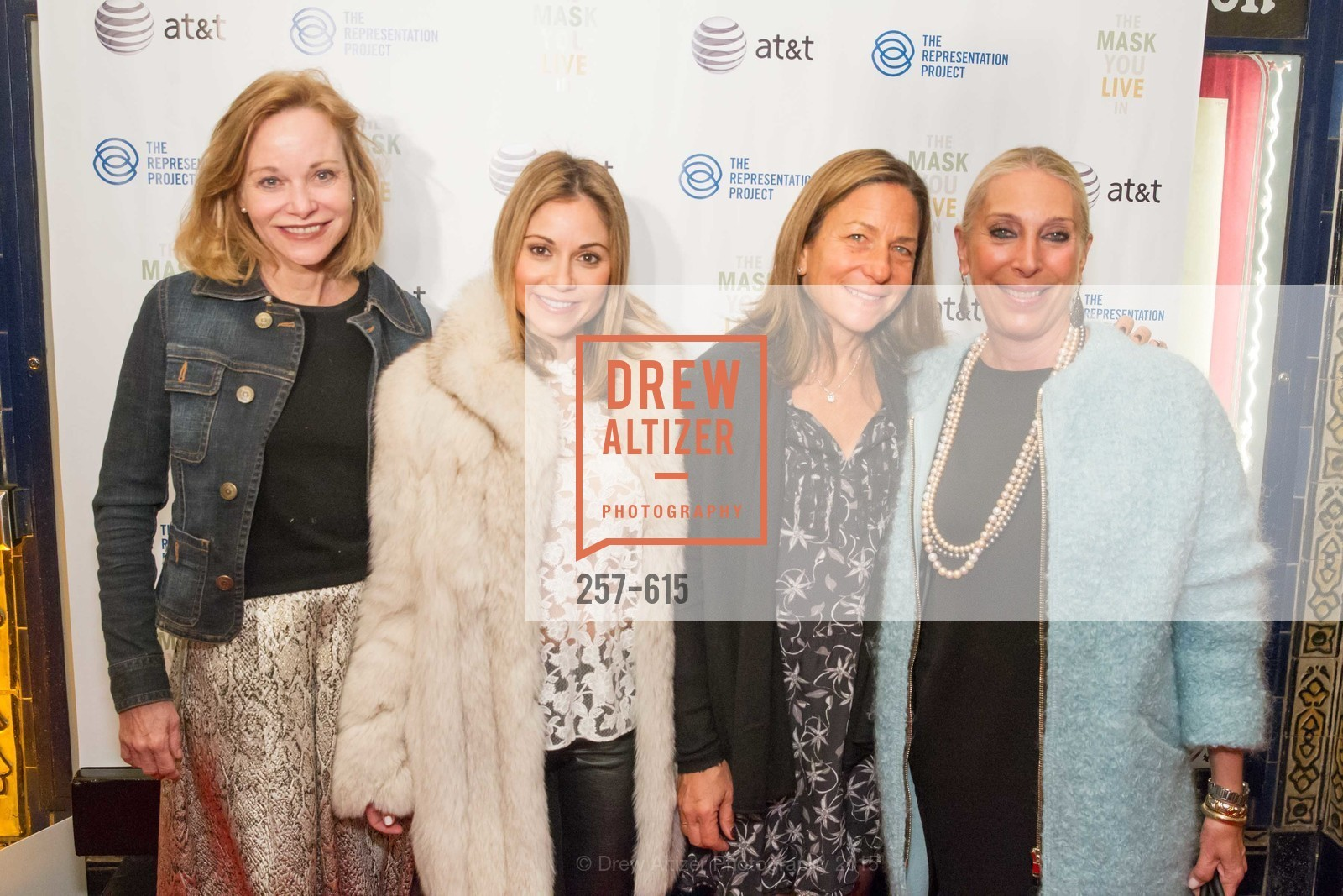 Janice Zakin, Monica Potter, Marcy Brant, Betsy Linder, Jennifer Siebel Newsom's Castro Screening The Mask You Live In, Castro Theatre. 429 Castro Street, December 2nd, 2015,Drew Altizer, Drew Altizer Photography, full-service event agency, private events, San Francisco photographer, photographer California