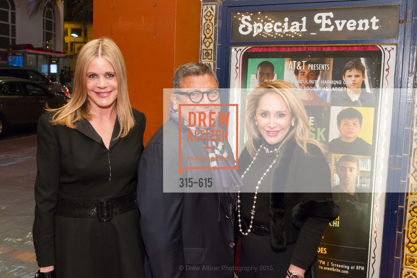Mary Beth Shimmon, Riccardo Benavides, Brenda Zarate, Jennifer Siebel Newsom's Castro Screening The Mask You Live In, Castro Theatre. 429 Castro Street, December 2nd, 2015,Drew Altizer, Drew Altizer Photography, full-service agency, private events, San Francisco photographer, photographer california