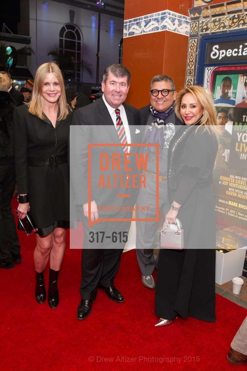Mary Beth Shimmon, Alan Morrell, Riccardo Benavides, Brenda Zarate, Jennifer Siebel Newsom's Castro Screening The Mask You Live In, Castro Theatre. 429 Castro Street, December 2nd, 2015,Drew Altizer, Drew Altizer Photography, full-service agency, private events, San Francisco photographer, photographer california