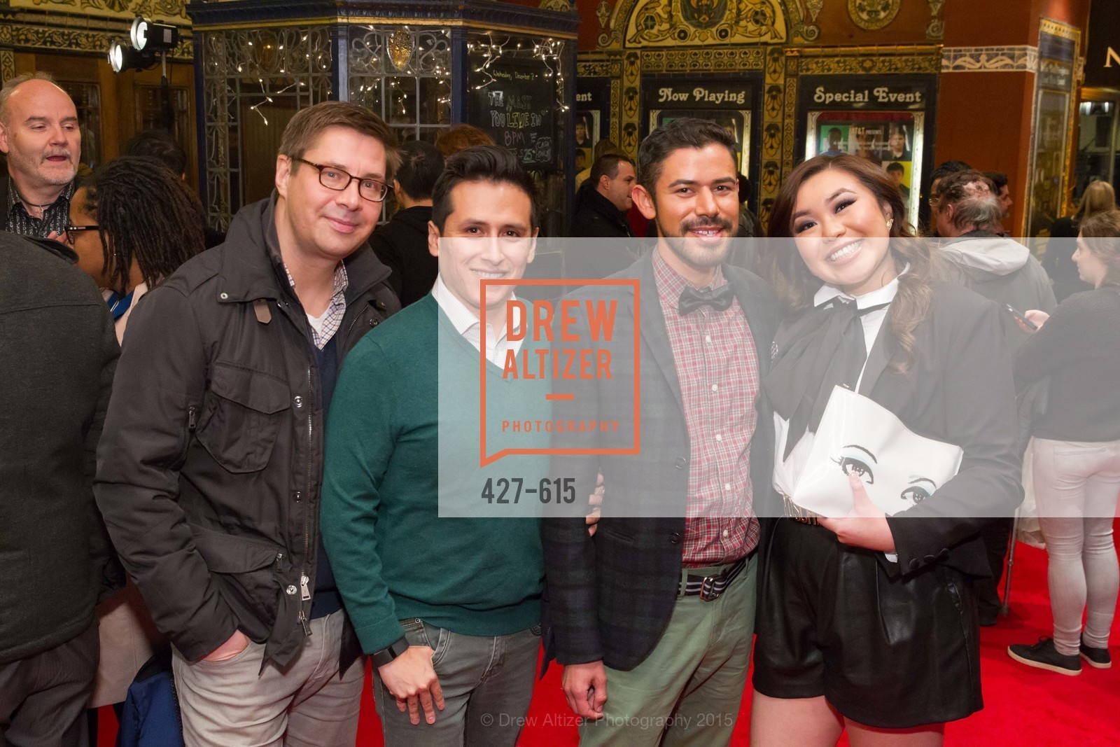Jens Noffke, Yens Moske, Roberto Garcia, Cindy Situ, Jennifer Siebel Newsom's Castro Screening The Mask You Live In, Castro Theatre. 429 Castro Street, December 2nd, 2015,Drew Altizer, Drew Altizer Photography, full-service agency, private events, San Francisco photographer, photographer california