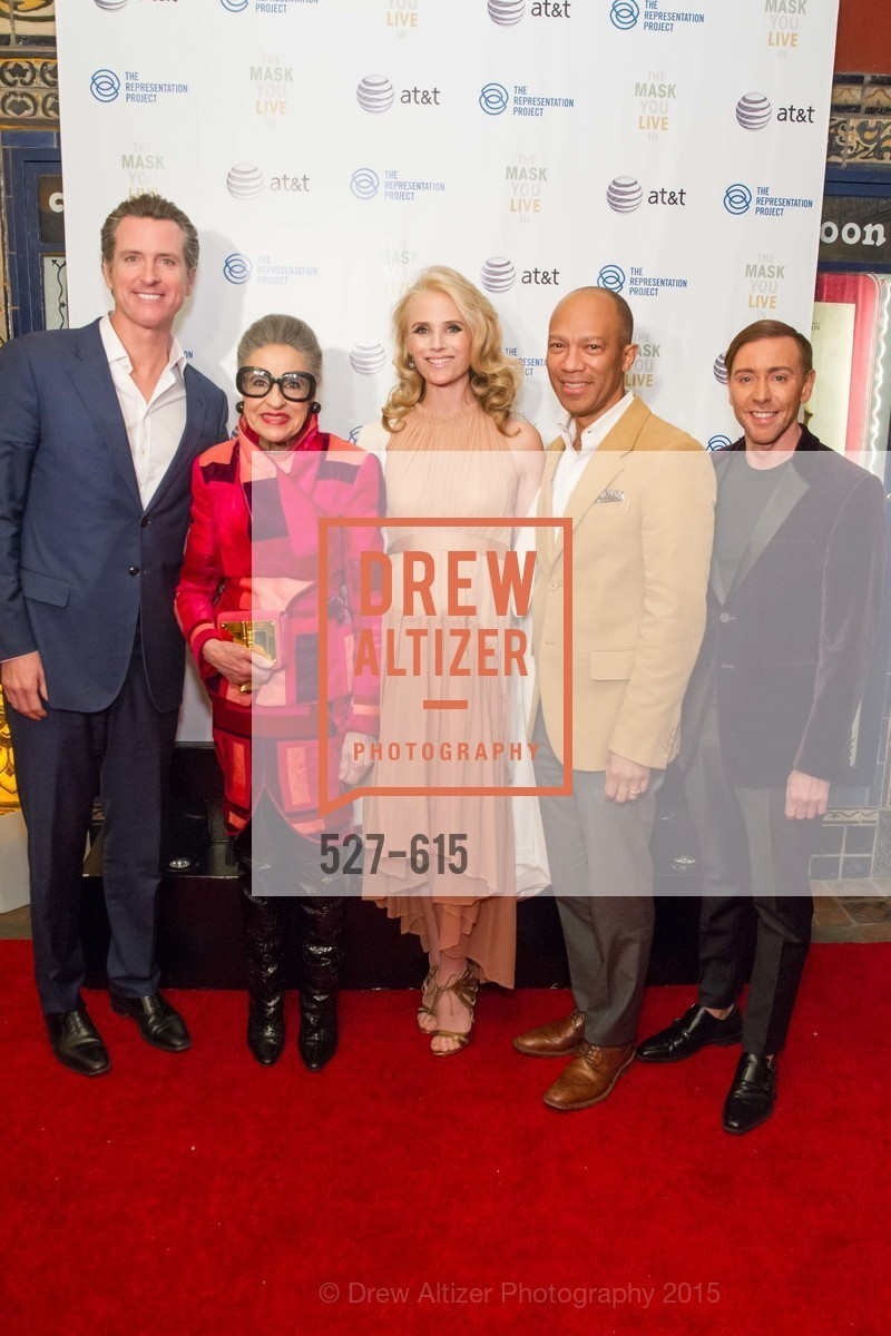Gavin Newsom, Jennifer Siebel Newsom, Joy Venturini Bianchi, Ken McNeely, Mark Rhoades, Jennifer Siebel Newsom's Castro Screening The Mask You Live In, Castro Theatre. 429 Castro Street, December 2nd, 2015,Drew Altizer, Drew Altizer Photography, full-service agency, private events, San Francisco photographer, photographer california