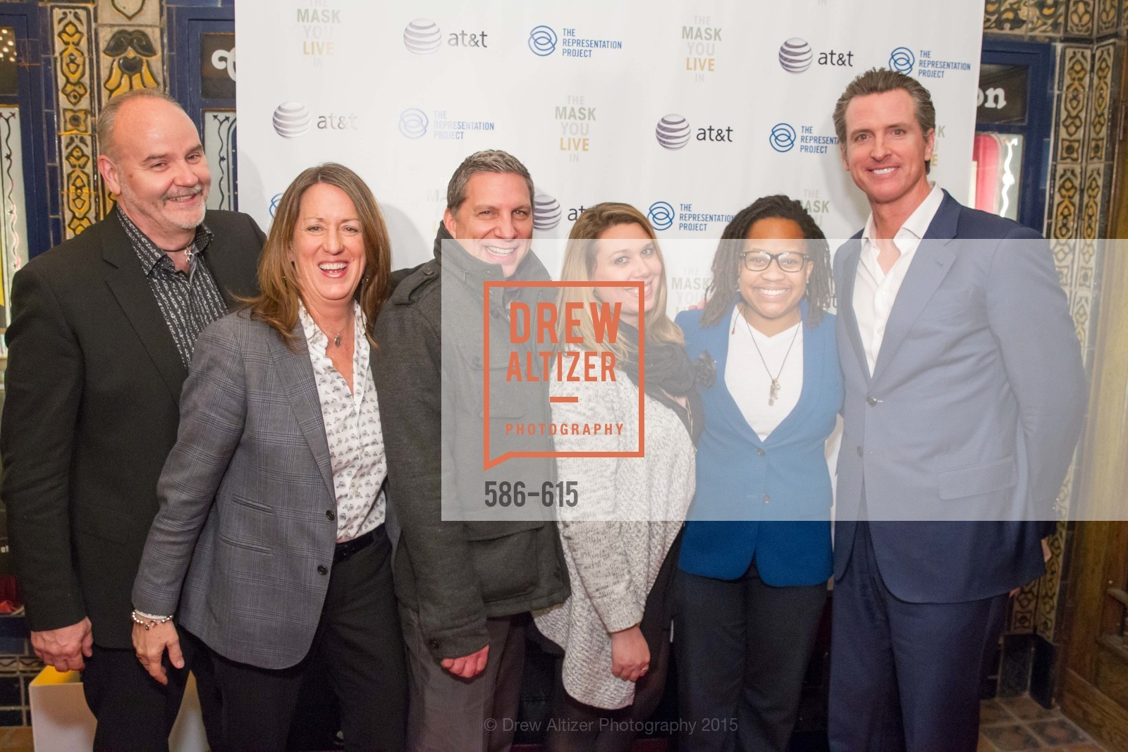 Dave Allen, Kate Kendall, Kim Elsie, Daniel Saragusa, Ace Portis, Gavin Newsom, Jennifer Siebel Newsom's Castro Screening The Mask You Live In, Castro Theatre. 429 Castro Street, December 2nd, 2015,Drew Altizer, Drew Altizer Photography, full-service agency, private events, San Francisco photographer, photographer california