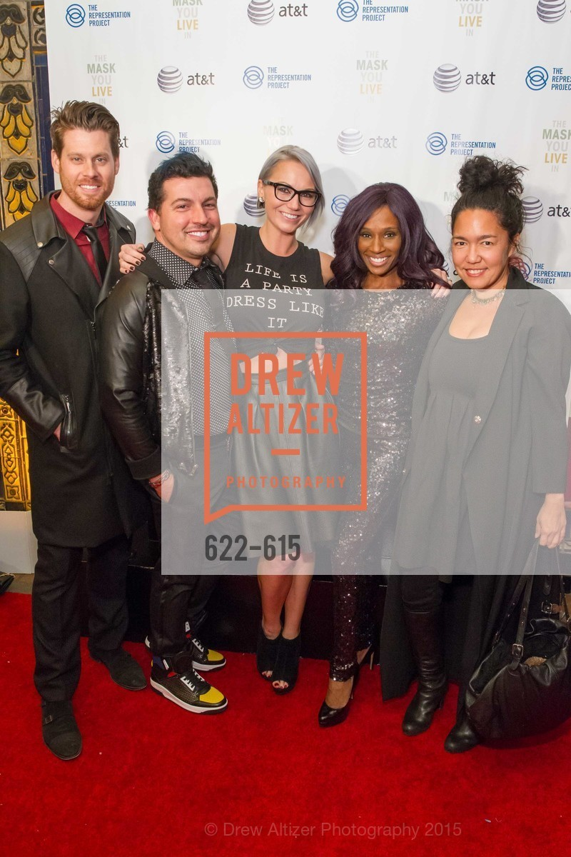Nathan Johnson, Brie Johnson, Pernella Sommerville, Carrie Borza, Jennifer Siebel Newsom's Castro Screening The Mask You Live In, Castro Theatre. 429 Castro Street, December 2nd, 2015,Drew Altizer, Drew Altizer Photography, full-service agency, private events, San Francisco photographer, photographer california