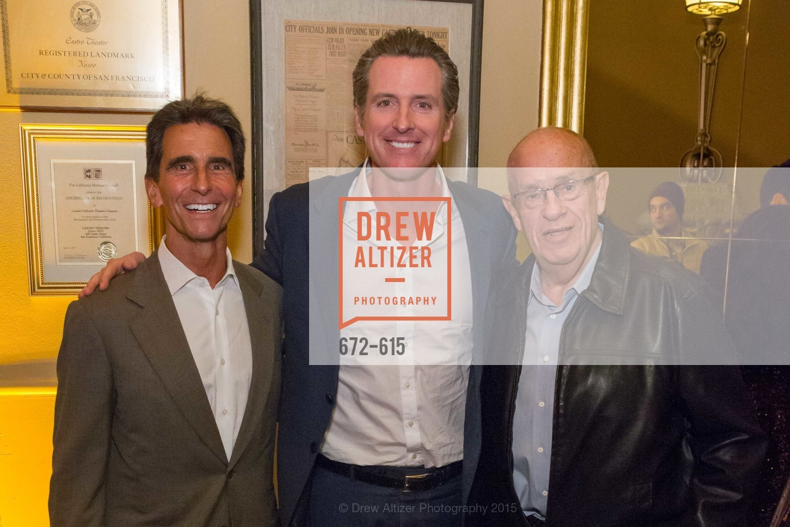 Mark Leno, Gavin Newsom, Wayne Fryday, Jennifer Siebel Newsom's Castro Screening The Mask You Live In, Castro Theatre. 429 Castro Street, December 2nd, 2015,Drew Altizer, Drew Altizer Photography, full-service agency, private events, San Francisco photographer, photographer california