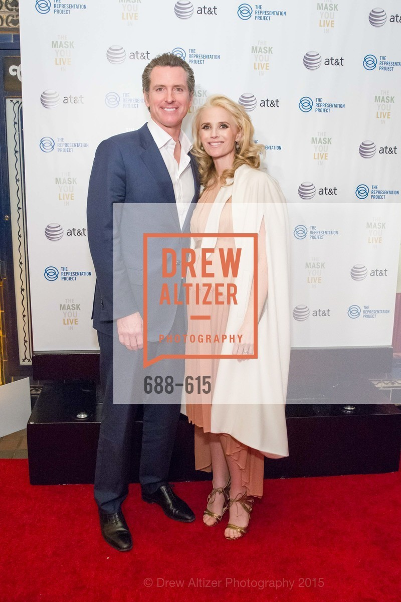 Gavin Newsom, Jennifer Siebel Newsom, Jennifer Siebel Newsom's Castro Screening The Mask You Live In, Castro Theatre. 429 Castro Street, December 2nd, 2015,Drew Altizer, Drew Altizer Photography, full-service agency, private events, San Francisco photographer, photographer california