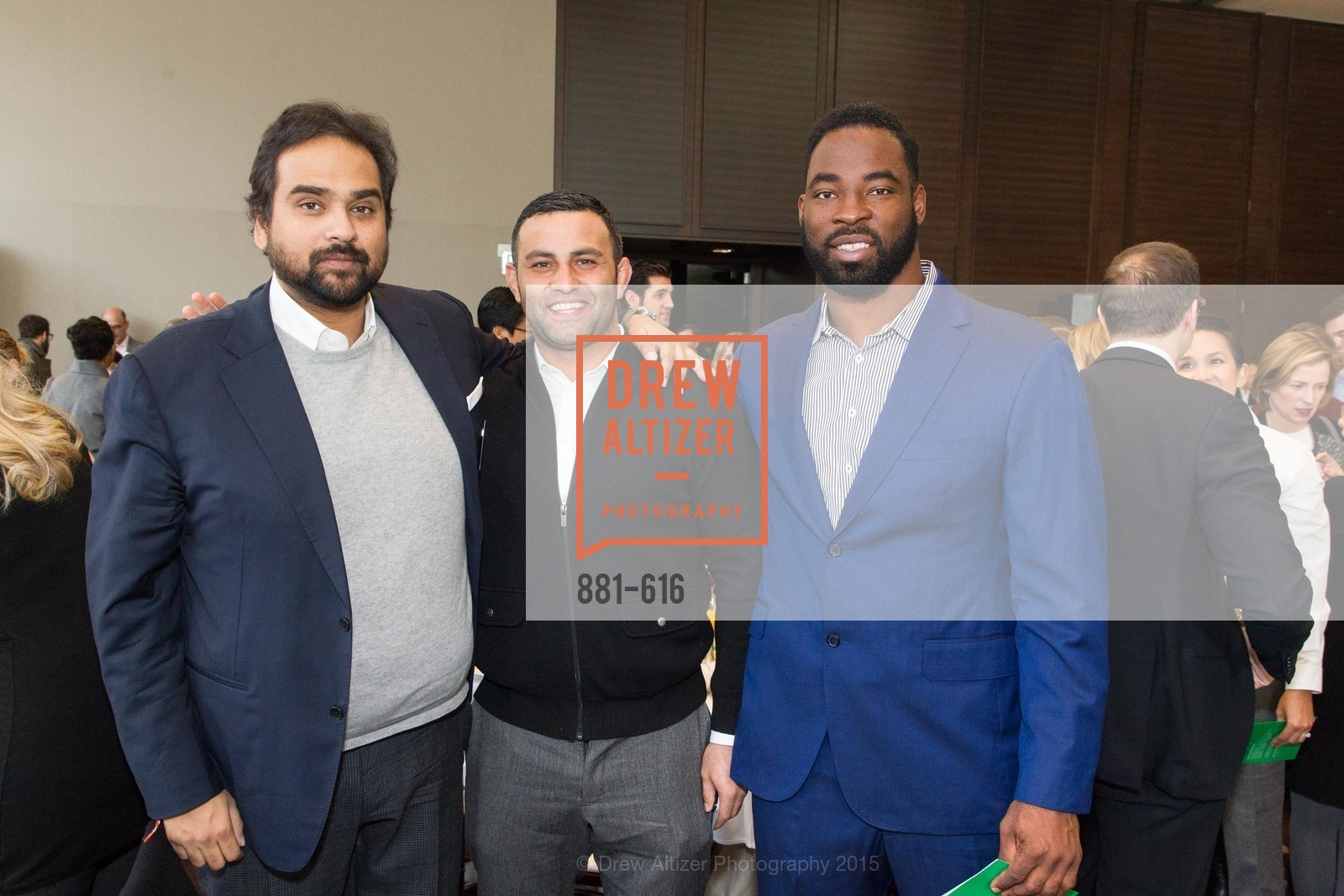Hosain Rahman, Tarez Azim, Justin Tuck, Tipping Point's 2015 Breakfast, St. Regis. 125 3rd St, December 3rd, 2015,Drew Altizer, Drew Altizer Photography, full-service agency, private events, San Francisco photographer, photographer california