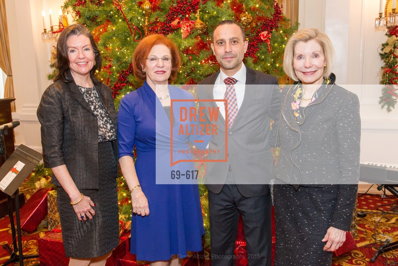 Elizabeth Birka-White, Romana Bracco, Gabriele Delmonaco, Barbara Traisman, Boy's & Girls' Towns of Italy Holiday Luncheon, The Olympic Club. 524 Post Street, December 3rd, 2015,Drew Altizer, Drew Altizer Photography, full-service agency, private events, San Francisco photographer, photographer california