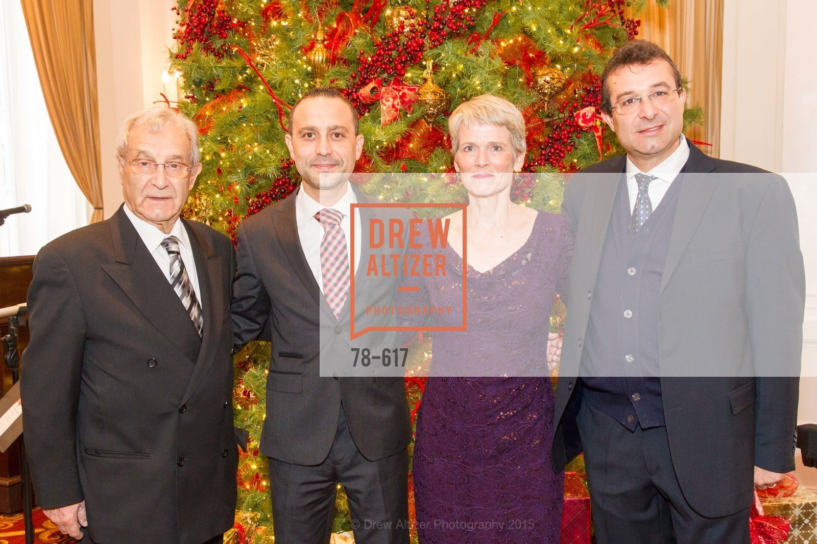 Porfirio Grazioli, Gabriele Delmonaco, Lauren Ross, Marco Grazioli, Boy's & Girls' Towns of Italy Holiday Luncheon, The Olympic Club. 524 Post Street, December 3rd, 2015,Drew Altizer, Drew Altizer Photography, full-service agency, private events, San Francisco photographer, photographer california