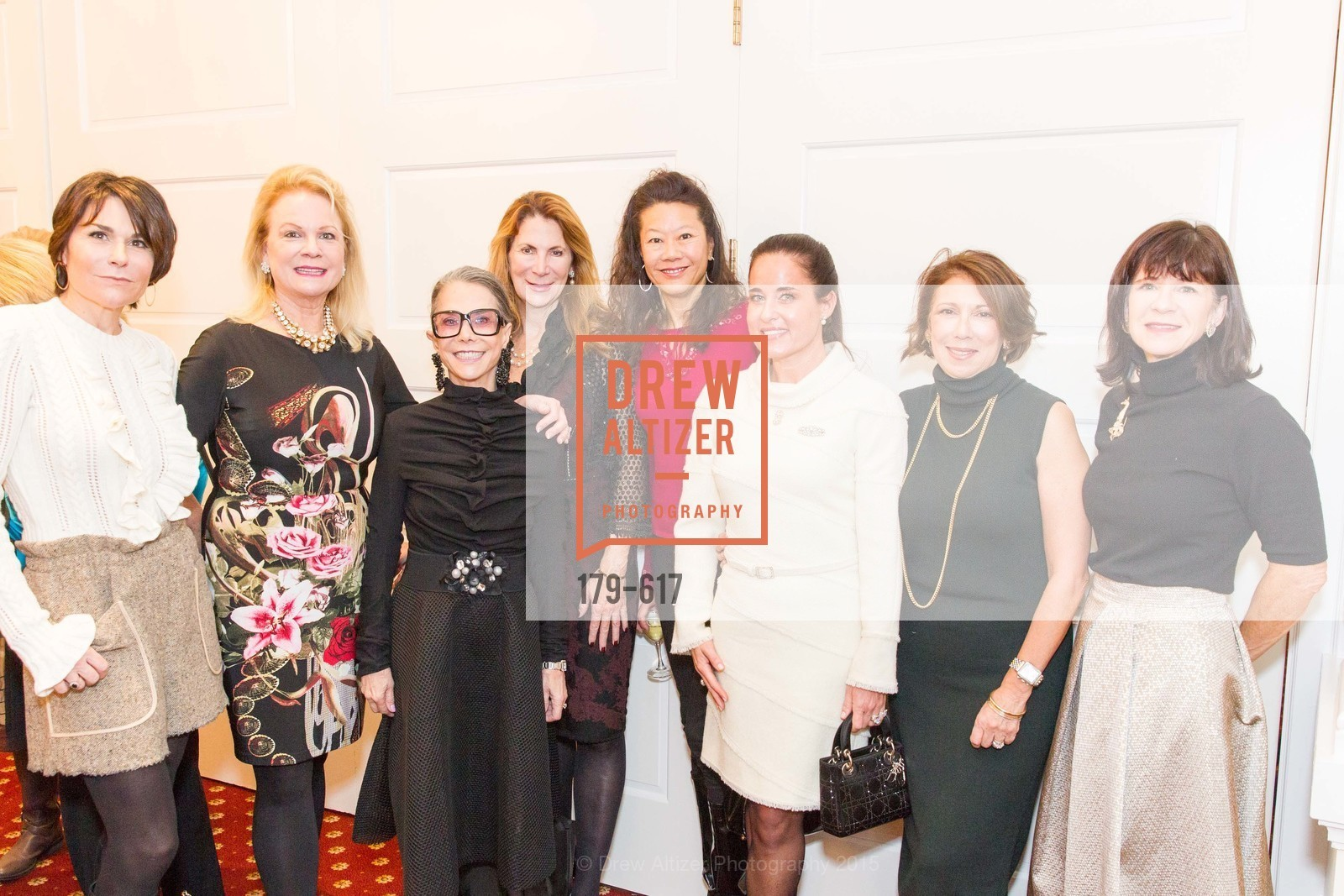 Debbie DiMaggio, Claire Kostic, Julie Coplon, Patricia Ferrin Loucks, Michelle Helm, Natalia Urrutia, Cynthia Karasik, Pam McBain, Boy's & Girls' Towns of Italy Holiday Luncheon, The Olympic Club. 524 Post Street, December 3rd, 2015,Drew Altizer, Drew Altizer Photography, full-service agency, private events, San Francisco photographer, photographer california