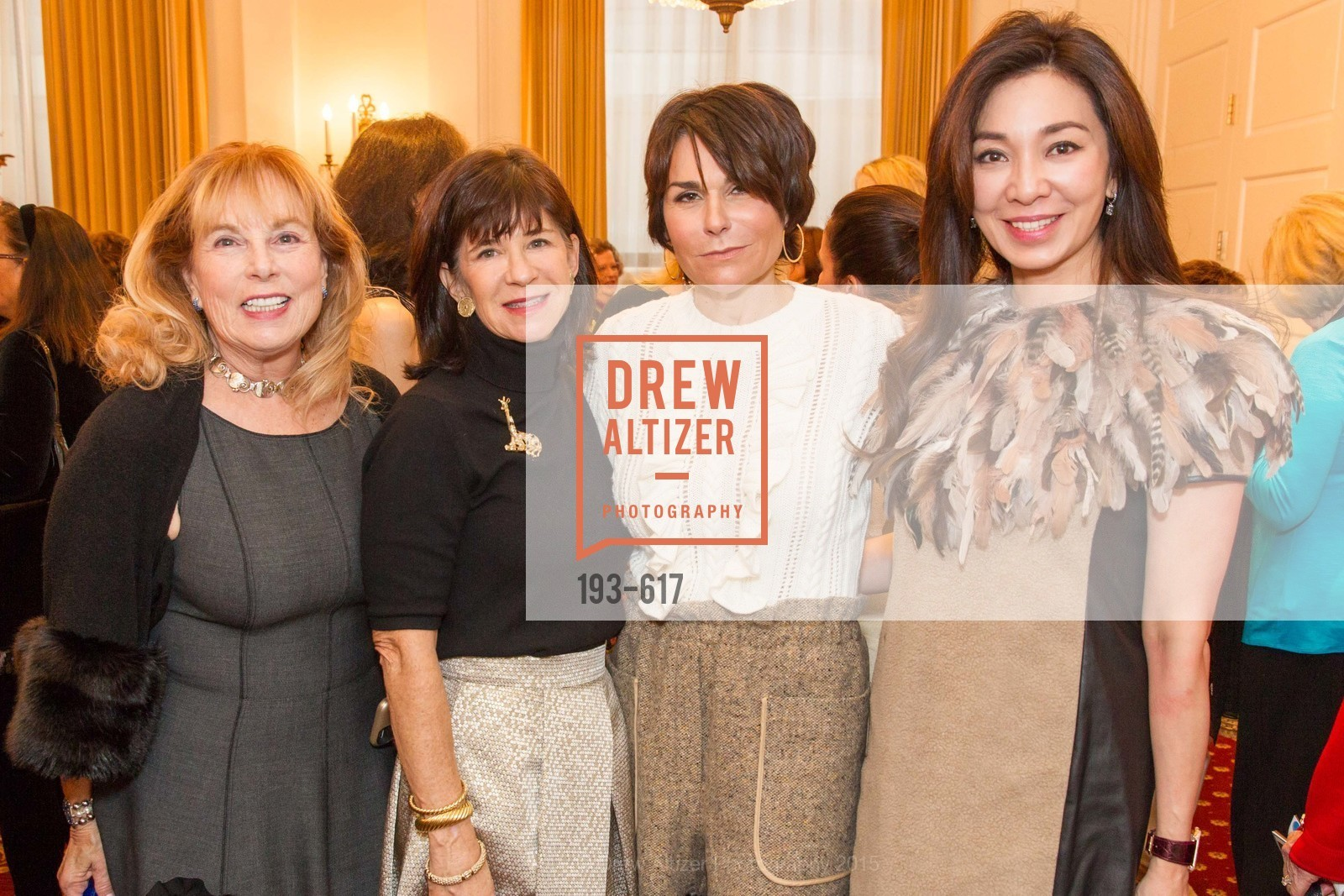 Marty Liao, Pam McBain, Debbi DiMaggio, Nathaline Djuhari, Boy's & Girls' Towns of Italy Holiday Luncheon, The Olympic Club. 524 Post Street, December 3rd, 2015,Drew Altizer, Drew Altizer Photography, full-service agency, private events, San Francisco photographer, photographer california