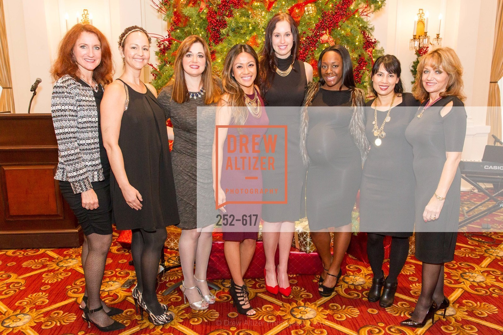 Melissa Galliani, Corynn Wade, Tirzah Lassahn, Janice Cruz, Kelsey Stiles, Nicole Harris, Juliette Nguyen, Joanie Girouard, Boy's & Girls' Towns of Italy Holiday Luncheon, The Olympic Club. 524 Post Street, December 3rd, 2015,Drew Altizer, Drew Altizer Photography, full-service agency, private events, San Francisco photographer, photographer california