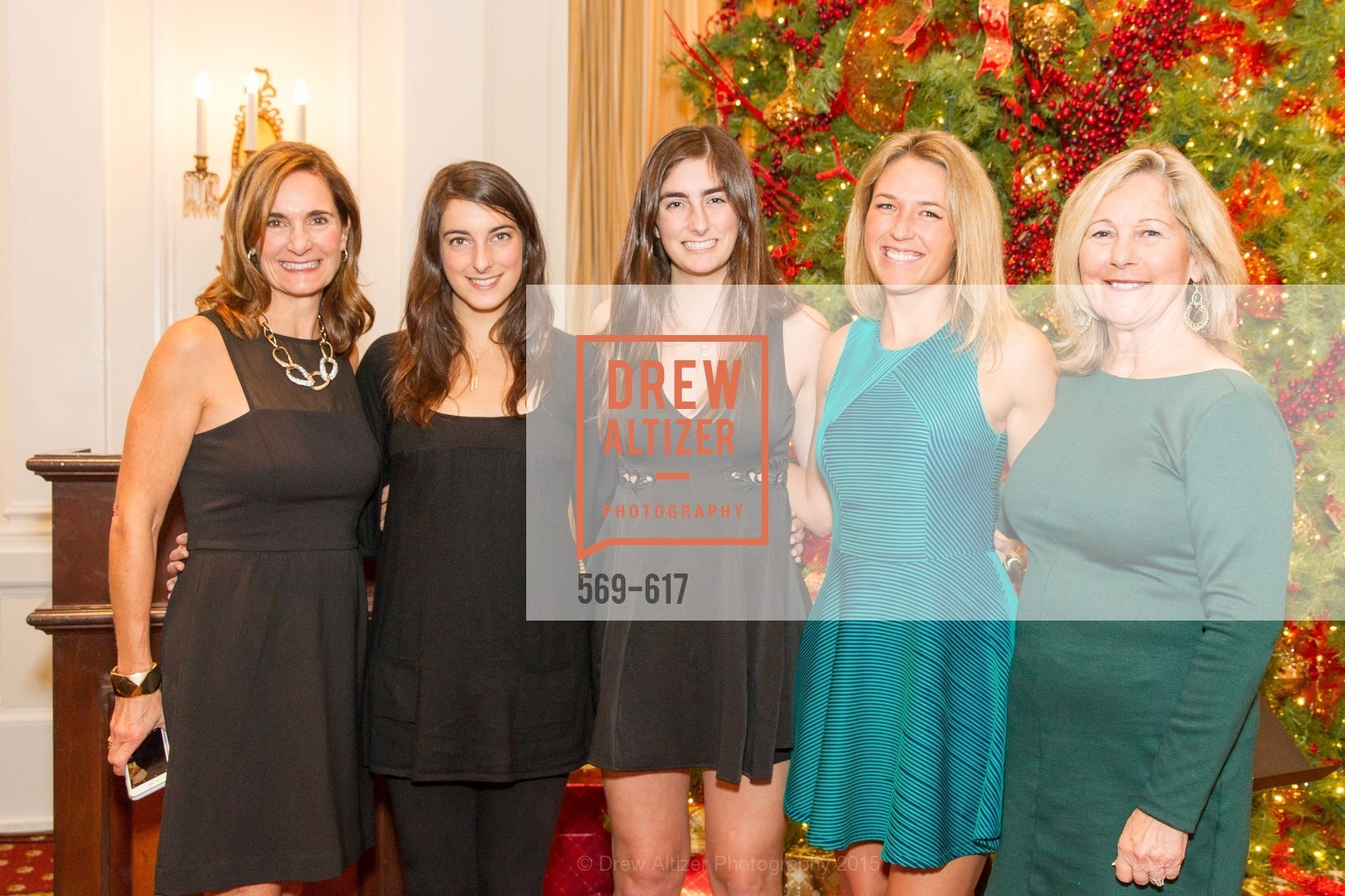Karen Stinardi, Liz Roland, Jackie Roland, Sarah Wilson, Jeanne Wilson, Boy's & Girls' Towns of Italy Holiday Luncheon, The Olympic Club. 524 Post Street, December 3rd, 2015,Drew Altizer, Drew Altizer Photography, full-service agency, private events, San Francisco photographer, photographer california