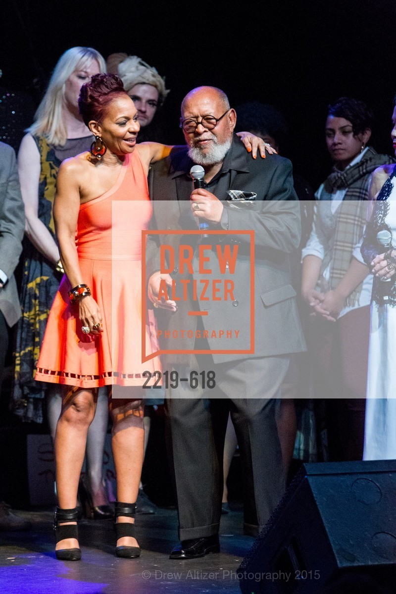 Renel Brooks-Moon, Cecil Williams, GLIDE's Annual Holiday Jam: Love Matters, The Warfield Theatre. 982 Market, December 3rd, 2015,Drew Altizer, Drew Altizer Photography, full-service agency, private events, San Francisco photographer, photographer california