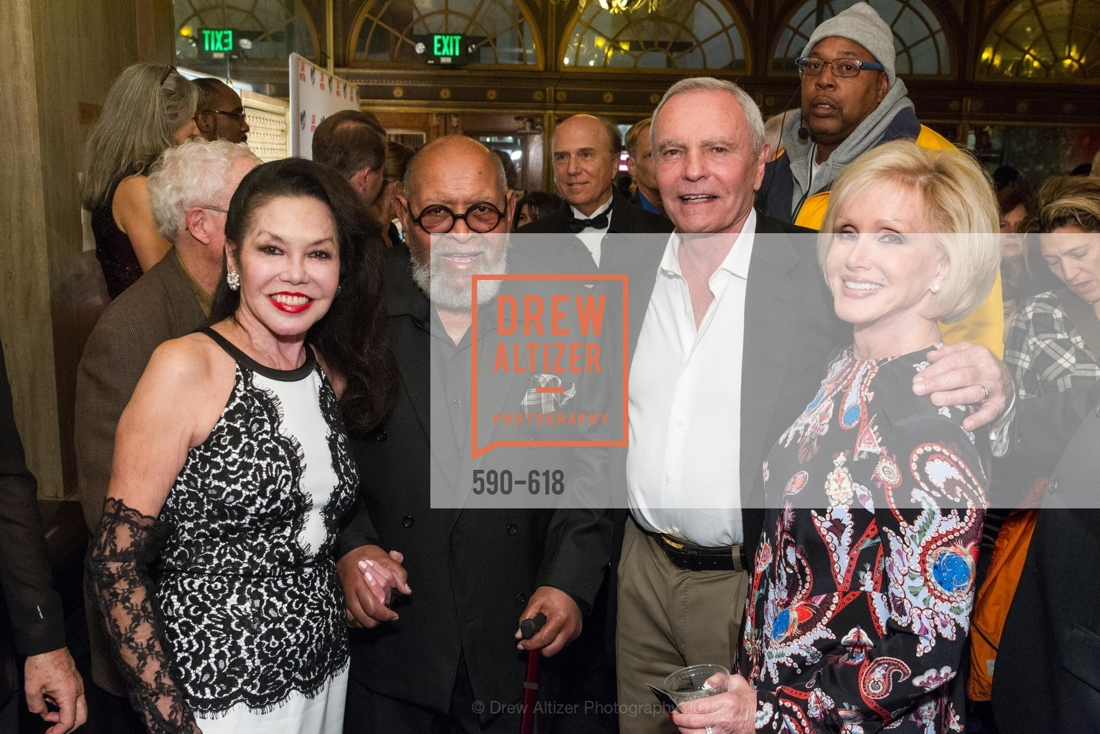 Janice Mirikitani, Cecil Williams, Bud Marx, Kathi Luke, GLIDE's Annual Holiday Jam: Love Matters, The Warfield Theatre. 982 Market, December 3rd, 2015,Drew Altizer, Drew Altizer Photography, full-service agency, private events, San Francisco photographer, photographer california