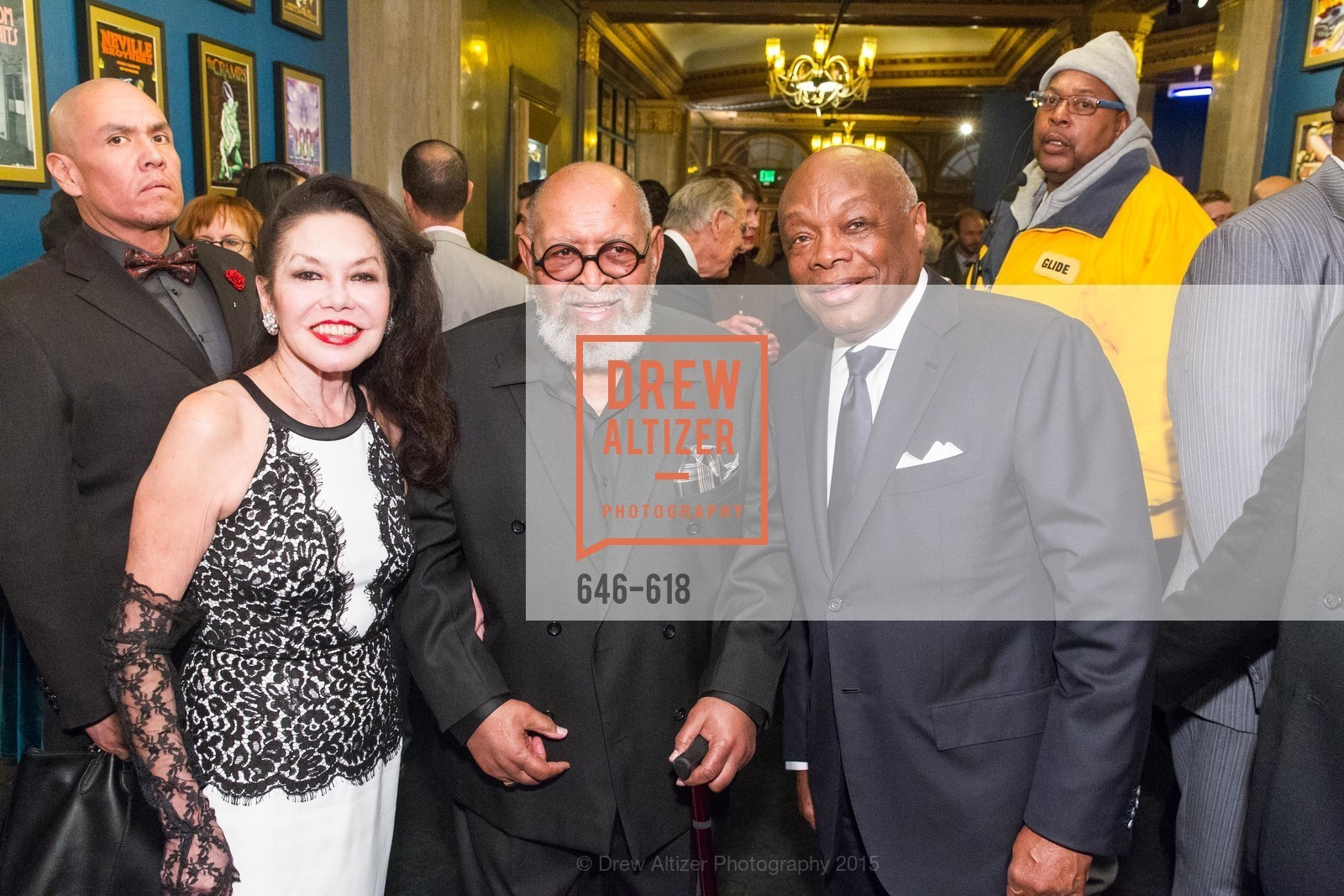 Janice Mirikitani, Cecil Williams, Willie Brown, GLIDE's Annual Holiday Jam: Love Matters, The Warfield Theatre. 982 Market, December 3rd, 2015,Drew Altizer, Drew Altizer Photography, full-service agency, private events, San Francisco photographer, photographer california