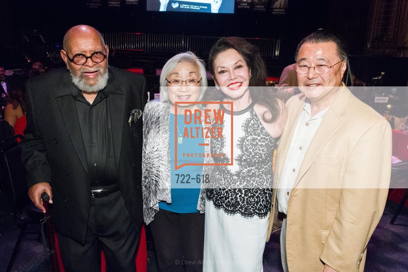 Cecil Williams, Sandy Mori, Janice Mirikitani, GLIDE's Annual Holiday Jam: Love Matters, The Warfield Theatre. 982 Market, December 3rd, 2015,Drew Altizer, Drew Altizer Photography, full-service agency, private events, San Francisco photographer, photographer california