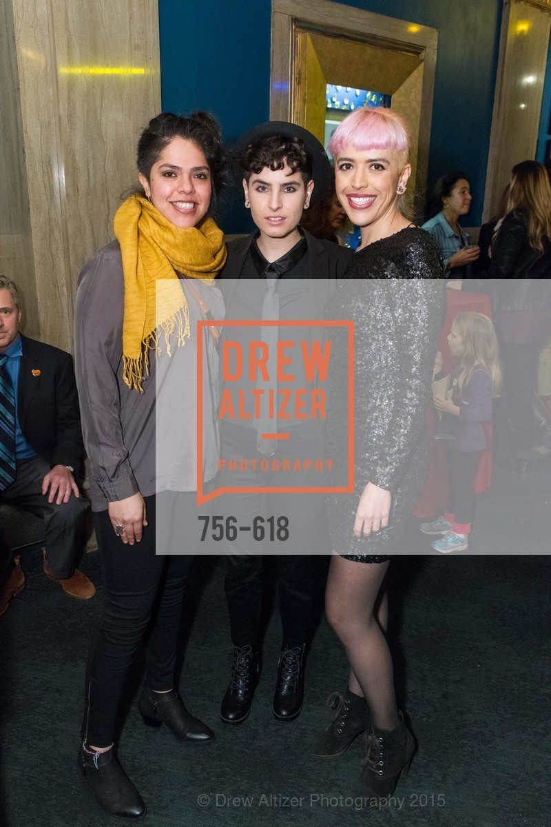 Teresa Vargas, Leanna Delgado Lopera, Laura Ceron Melo, GLIDE's Annual Holiday Jam: Love Matters, The Warfield Theatre. 982 Market, December 3rd, 2015,Drew Altizer, Drew Altizer Photography, full-service agency, private events, San Francisco photographer, photographer california