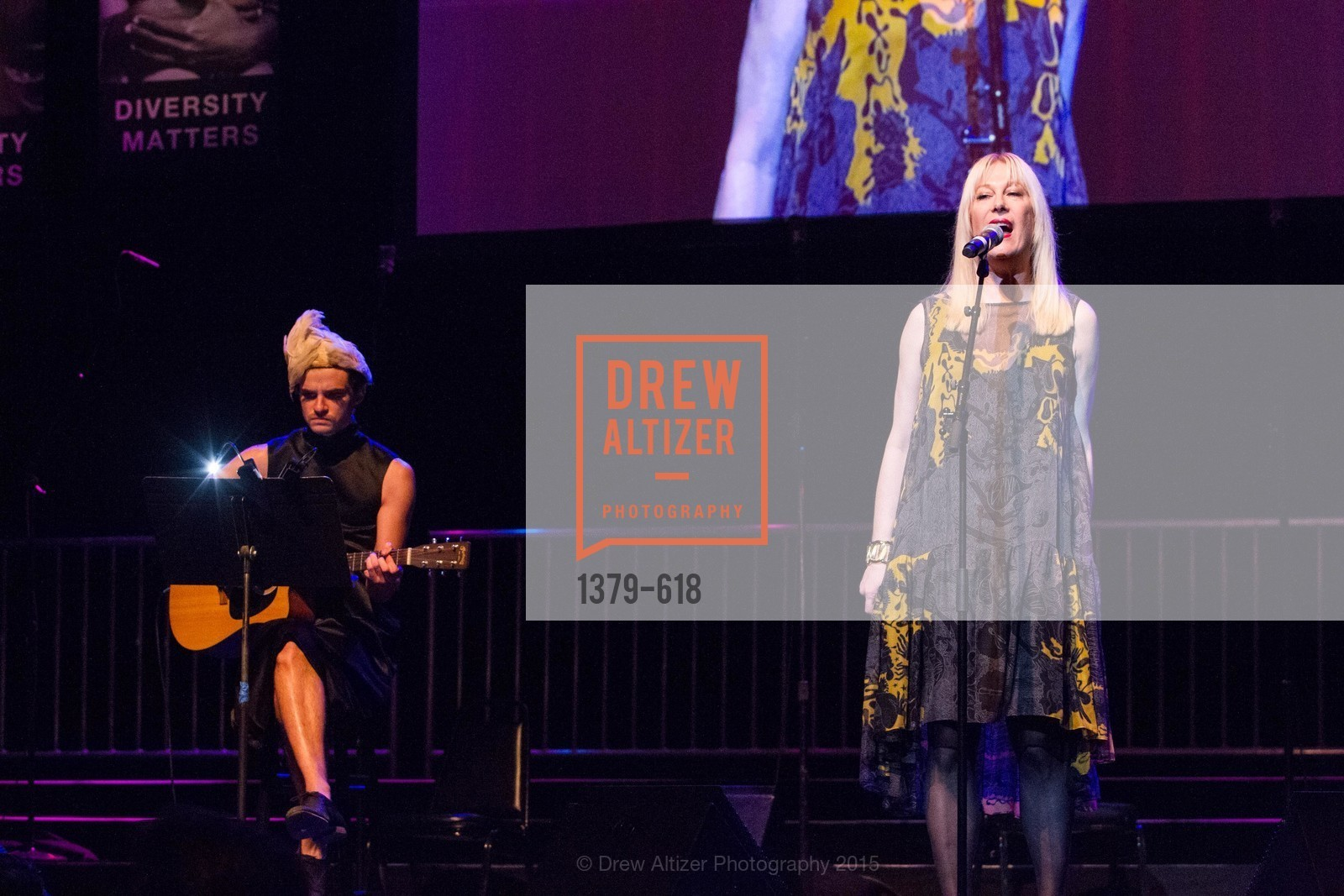 Performance By Justin Vivian Bond, GLIDE's Annual Holiday Jam: Love Matters, The Warfield Theatre. 982 Market, December 3rd, 2015,Drew Altizer, Drew Altizer Photography, full-service agency, private events, San Francisco photographer, photographer california