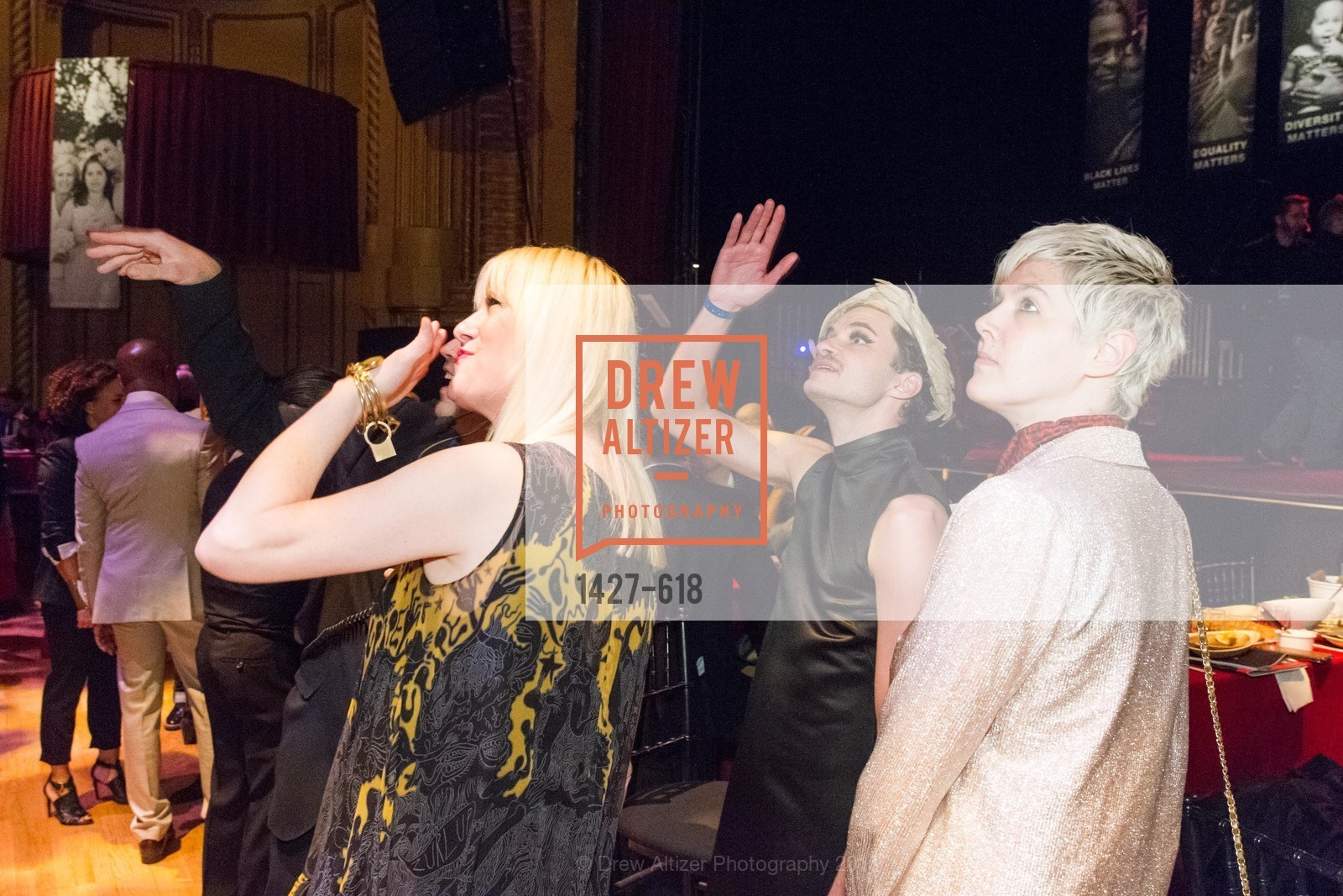 Justin Vivian Bond, Nath Ann Carrera, Jill Rider, GLIDE's Annual Holiday Jam: Love Matters, The Warfield Theatre. 982 Market, December 3rd, 2015,Drew Altizer, Drew Altizer Photography, full-service agency, private events, San Francisco photographer, photographer california