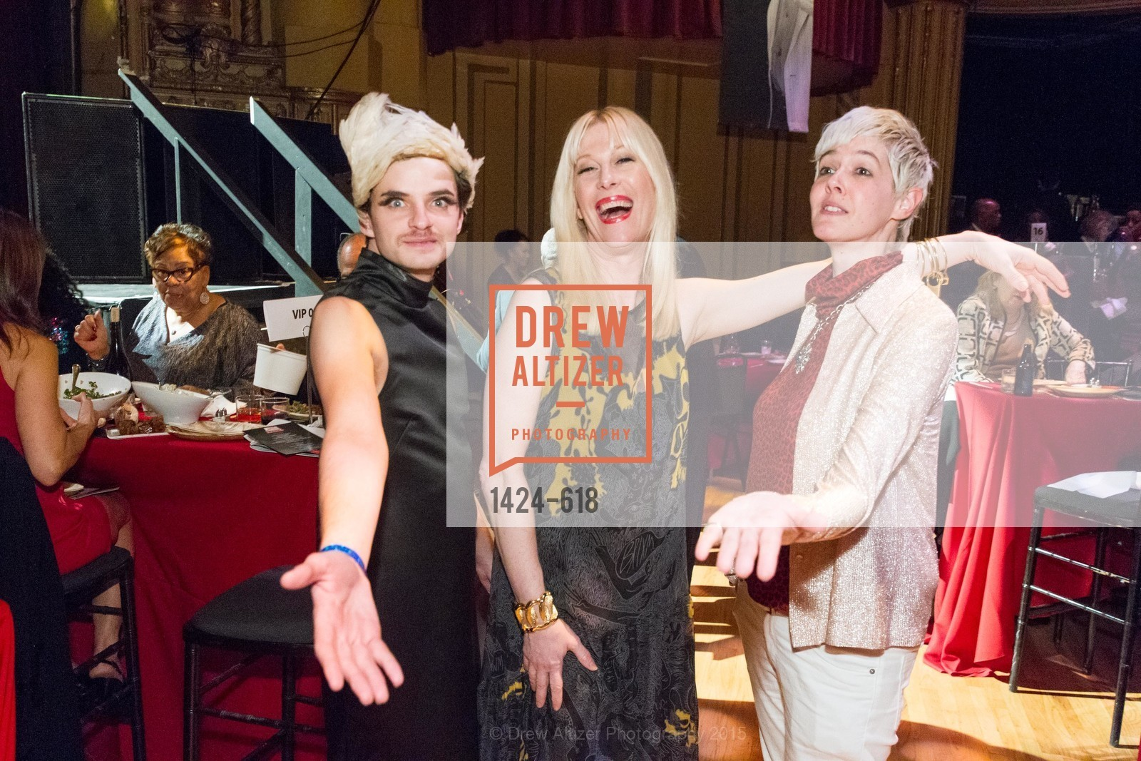 Nath Ann Carrera, Justin Vivian Bond, Jill Rider, GLIDE's Annual Holiday Jam: Love Matters, The Warfield Theatre. 982 Market, December 3rd, 2015,Drew Altizer, Drew Altizer Photography, full-service agency, private events, San Francisco photographer, photographer california