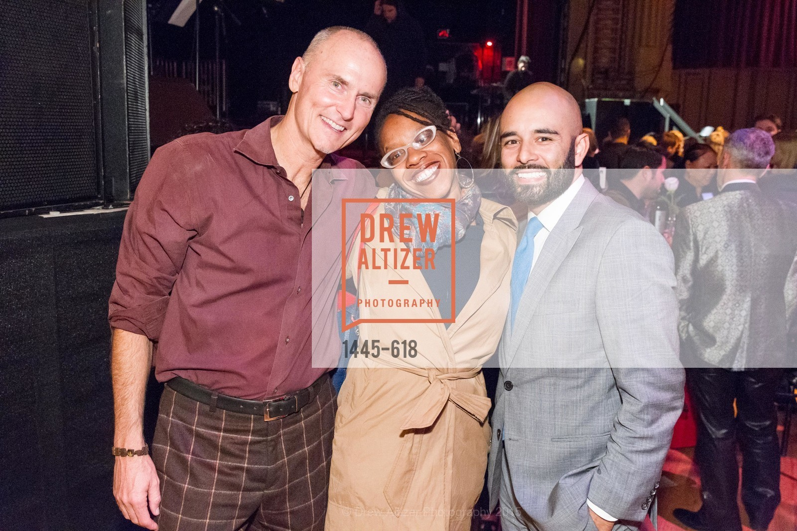 Chip Conley, Lateefah Simon, Edwin Lindo, GLIDE's Annual Holiday Jam: Love Matters, The Warfield Theatre. 982 Market, December 3rd, 2015,Drew Altizer, Drew Altizer Photography, full-service agency, private events, San Francisco photographer, photographer california