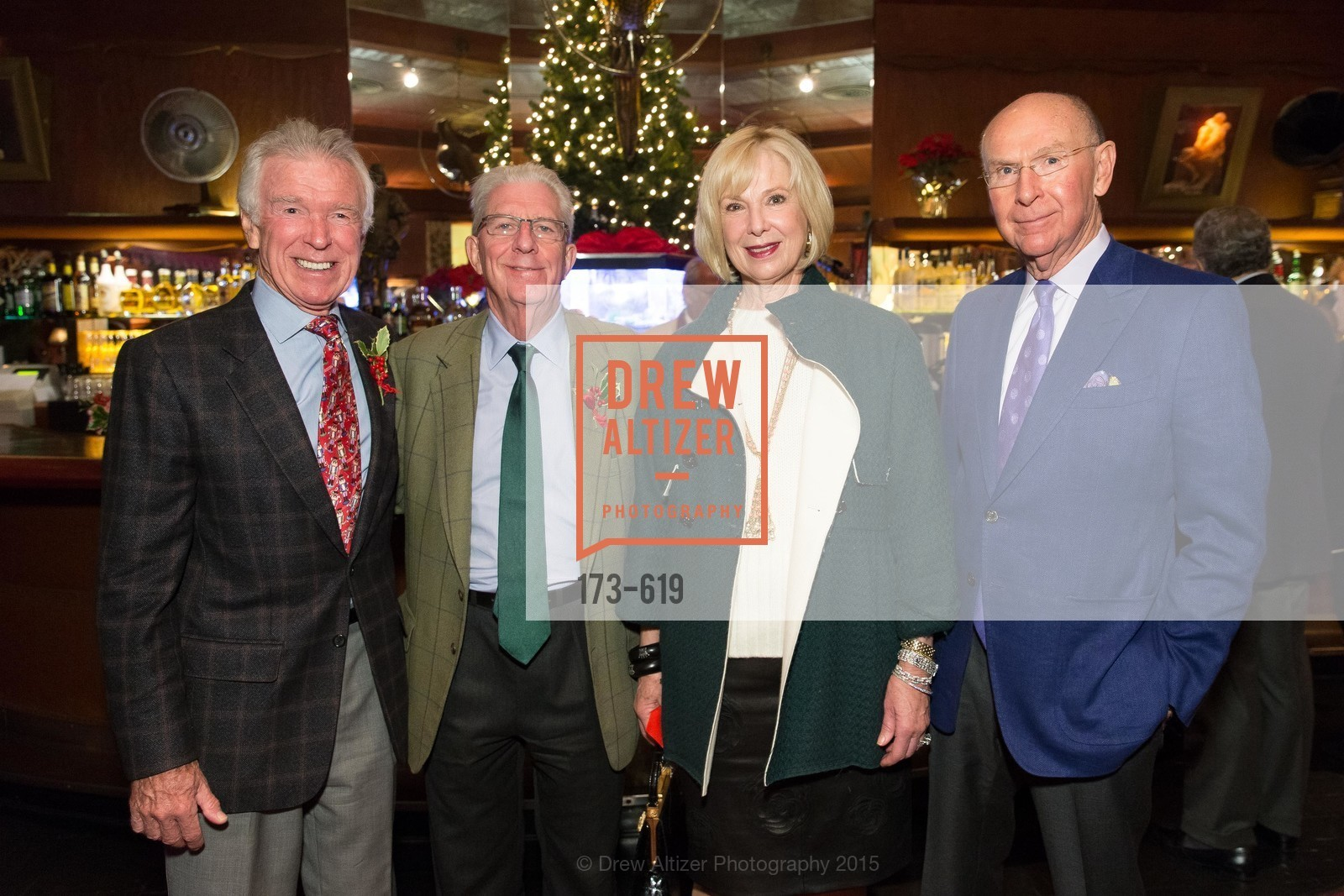 Dan Kasper, Rich Guggenhime, Kaye Heafey, Richard Heafey, Shansby/Matarasso Holiday Lunch, Bimbo's 365 Club. 1025 Columbus Ave, December 4th, 2015,Drew Altizer, Drew Altizer Photography, full-service event agency, private events, San Francisco photographer, photographer California
