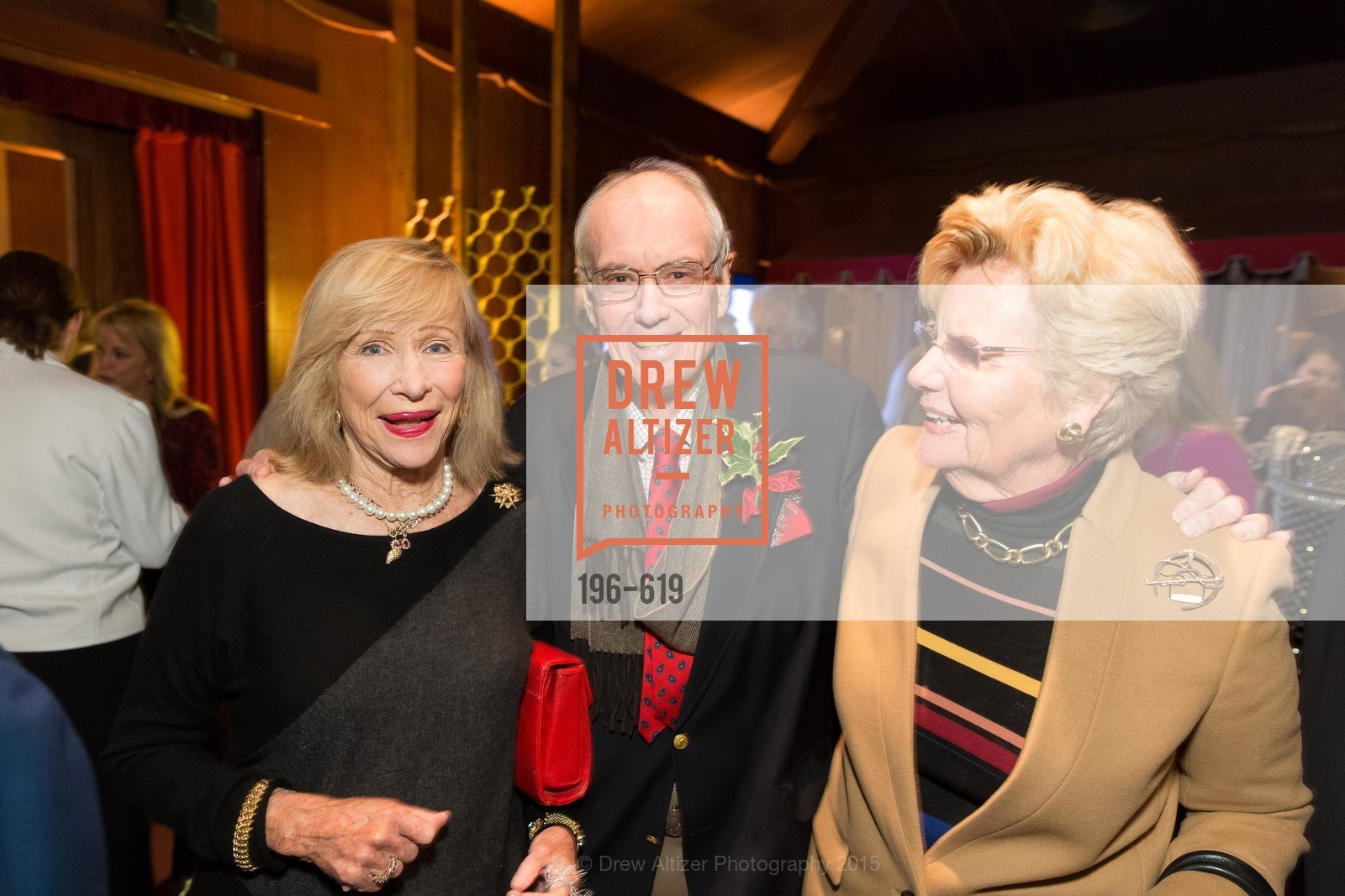 Ann Seymour, Launce Gamble, Joan Gamble, Shansby/Matarasso Holiday Lunch, Bimbo's 365 Club. 1025 Columbus Ave, December 4th, 2015,Drew Altizer, Drew Altizer Photography, full-service agency, private events, San Francisco photographer, photographer california