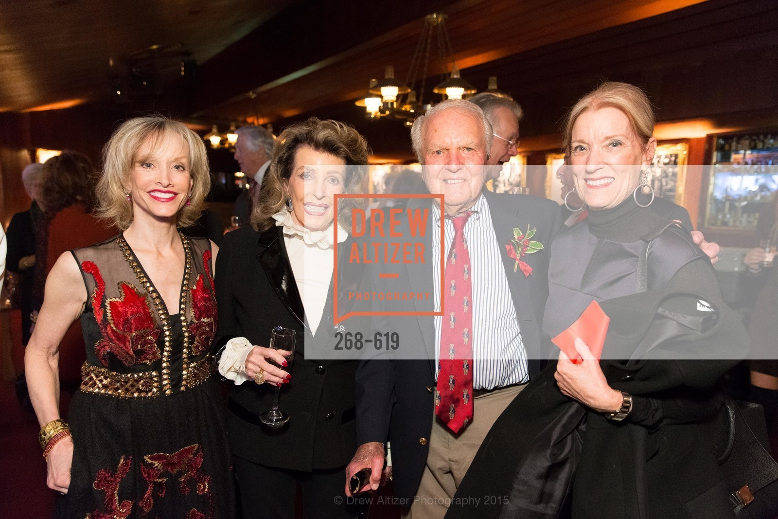 OJ Shansby, Ellie Killebrew Brown, JIm Ludwig, Patsy Ludwig, Shansby/Matarasso Holiday Lunch, Bimbo's 365 Club. 1025 Columbus Ave, December 4th, 2015