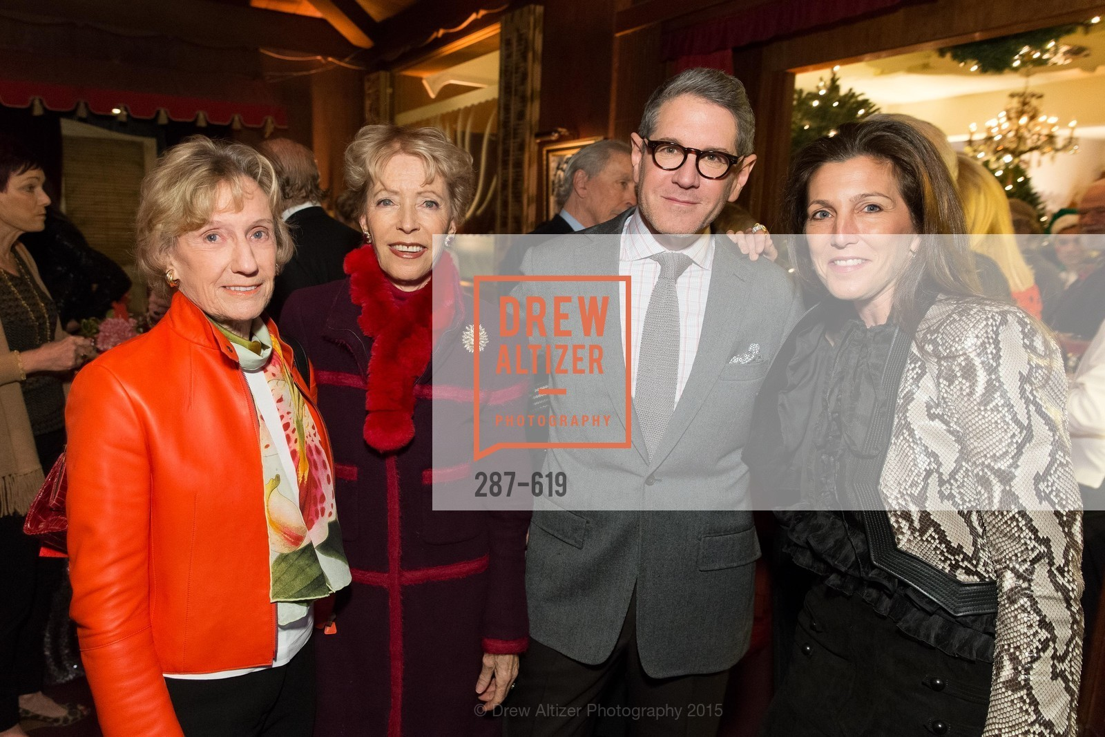 Nancy Bechtle, Barbara Brookins-schneider, Steven Volpe, Sloan Barnett, Shansby/Matarasso Holiday Lunch, Bimbo's 365 Club. 1025 Columbus Ave, December 4th, 2015,Drew Altizer, Drew Altizer Photography, full-service agency, private events, San Francisco photographer, photographer california