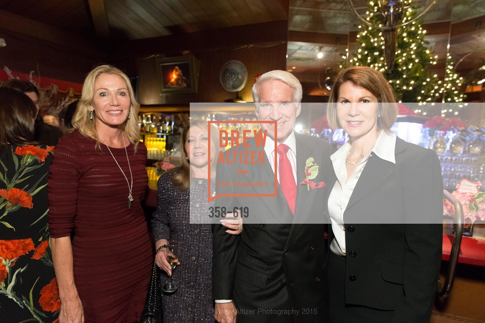 Rosemary Baker, Athena Blackburn, Timothy Blackburn, Katie Jarman, Shansby/Matarasso Holiday Lunch, Bimbo's 365 Club. 1025 Columbus Ave, December 4th, 2015,Drew Altizer, Drew Altizer Photography, full-service agency, private events, San Francisco photographer, photographer california