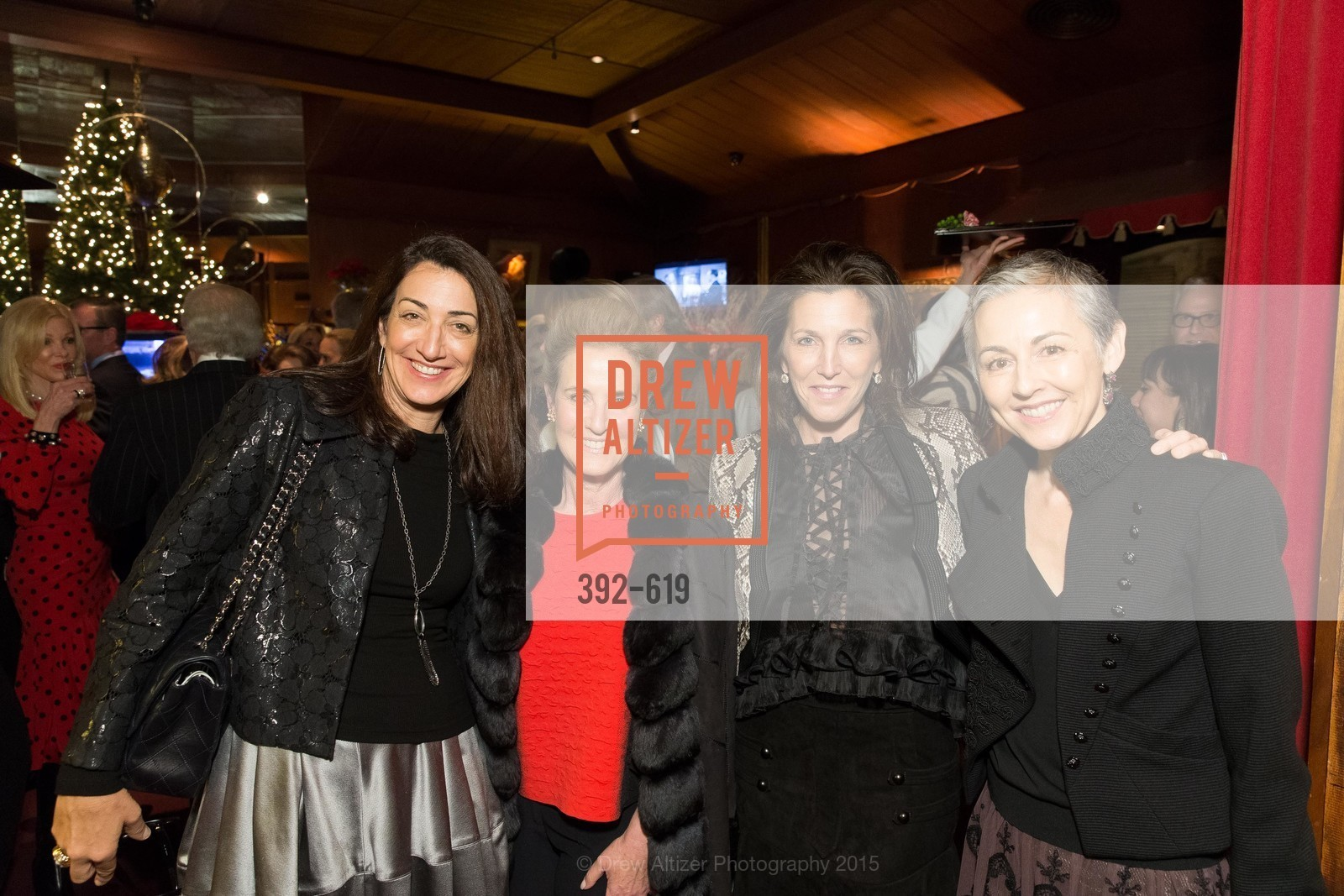 Pam Baer, Lisa Goldman, Sloan Barnett, Sako Fisher, Shansby/Matarasso Holiday Lunch, Bimbo's 365 Club. 1025 Columbus Ave, December 4th, 2015,Drew Altizer, Drew Altizer Photography, full-service agency, private events, San Francisco photographer, photographer california
