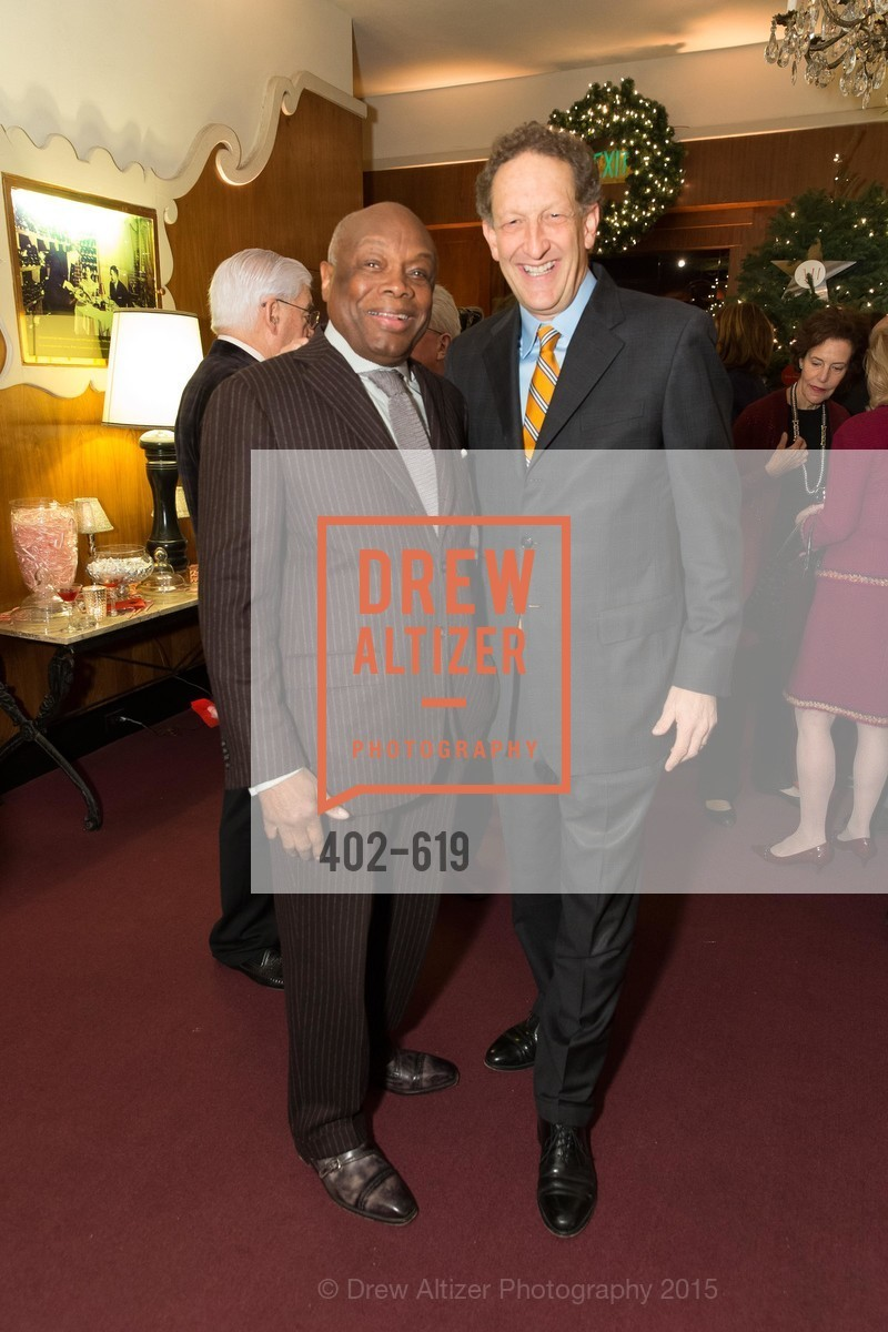Willie Brown, Larry Baer, Shansby/Matarasso Holiday Lunch, Bimbo's 365 Club. 1025 Columbus Ave, December 4th, 2015,Drew Altizer, Drew Altizer Photography, full-service event agency, private events, San Francisco photographer, photographer California