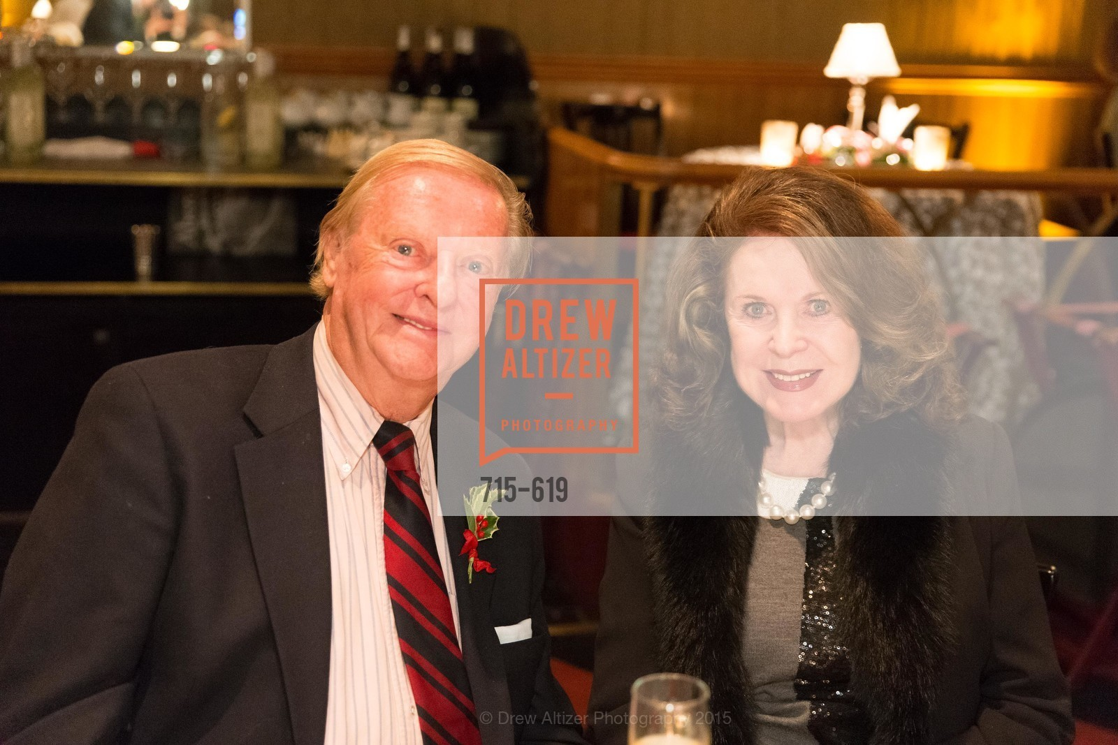 Harry DeWilt, Ann Caen, Shansby/Matarasso Holiday Lunch, Bimbo's 365 Club. 1025 Columbus Ave, December 4th, 2015,Drew Altizer, Drew Altizer Photography, full-service agency, private events, San Francisco photographer, photographer california