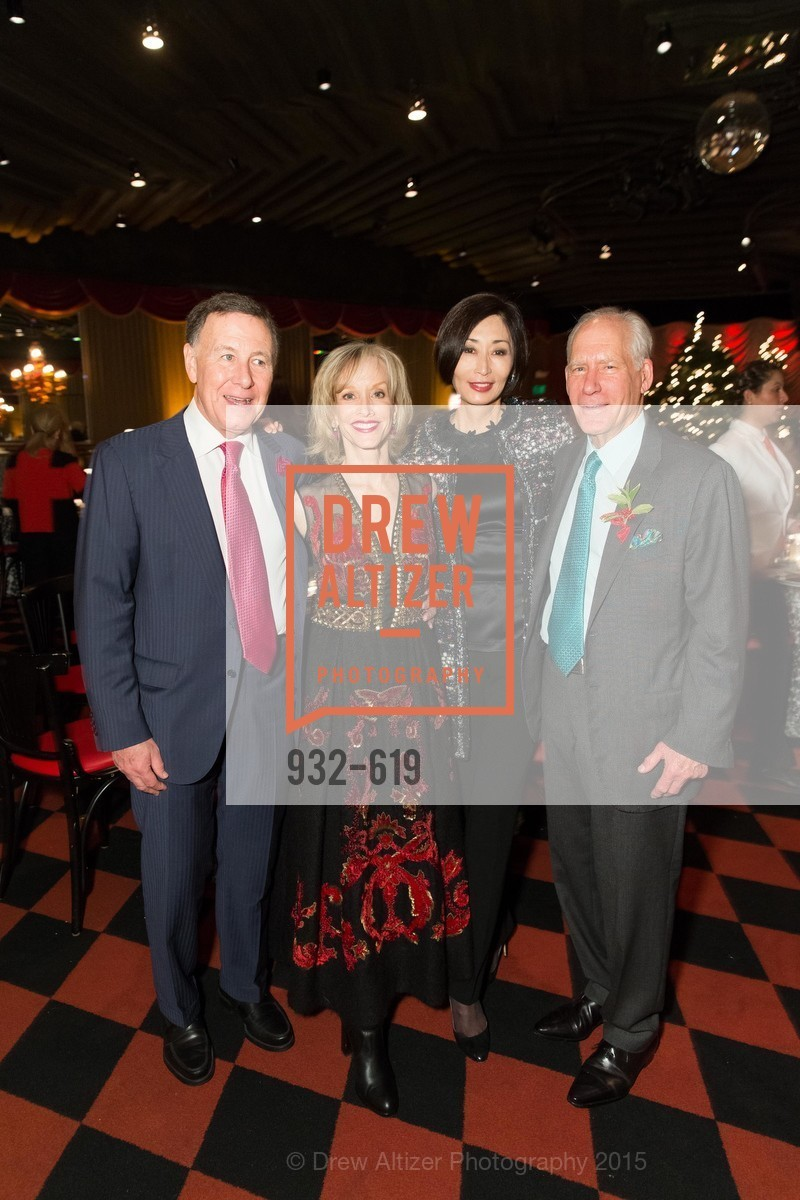 Carl Pascarella, OJ Shansby, Yurie Pascarella, Gary Shansby, Shansby/Matarasso Holiday Lunch, Bimbo's 365 Club. 1025 Columbus Ave, December 4th, 2015,Drew Altizer, Drew Altizer Photography, full-service agency, private events, San Francisco photographer, photographer california