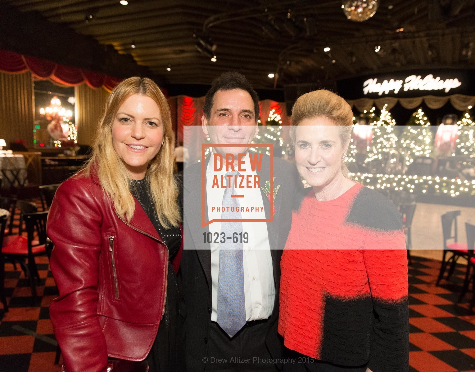 Suzanne Felson, Seth Matarasso, Lisa Goldman, Shansby/Matarasso Holiday Lunch, Bimbo's 365 Club. 1025 Columbus Ave, December 4th, 2015,Drew Altizer, Drew Altizer Photography, full-service agency, private events, San Francisco photographer, photographer california