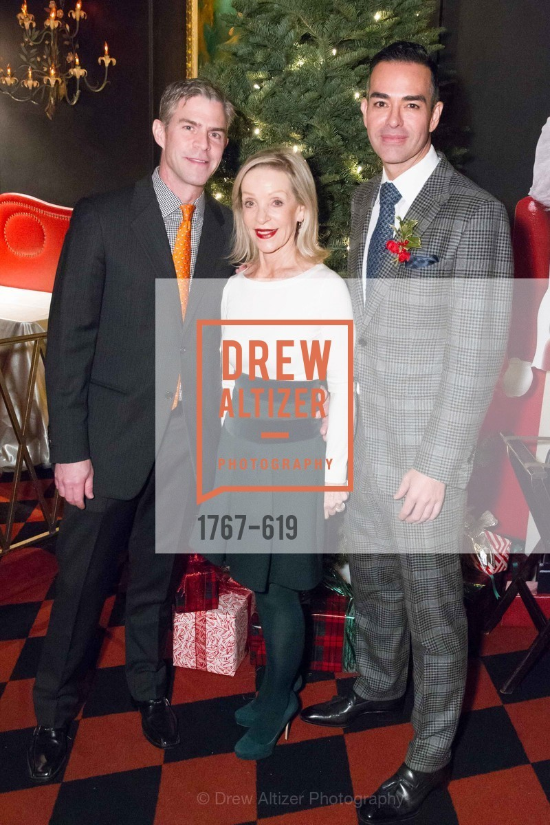 James Rogers, Barbara Brown, Greg Lopez, Shansby/Matarasso Holiday Lunch, Bimbo's 365 Club. 1025 Columbus Ave, December 4th, 2015,Drew Altizer, Drew Altizer Photography, full-service agency, private events, San Francisco photographer, photographer california