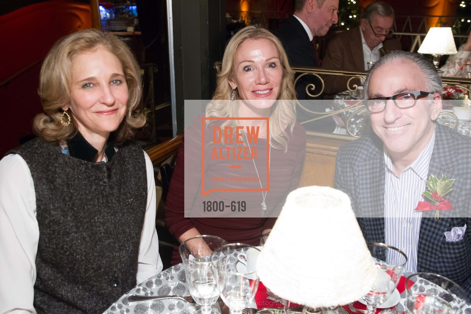 Jennifer Biederbeck, Rosemary Baker, Elliott Felson, Shansby/Matarasso Holiday Lunch, Bimbo's 365 Club. 1025 Columbus Ave, December 4th, 2015,Drew Altizer, Drew Altizer Photography, full-service agency, private events, San Francisco photographer, photographer california