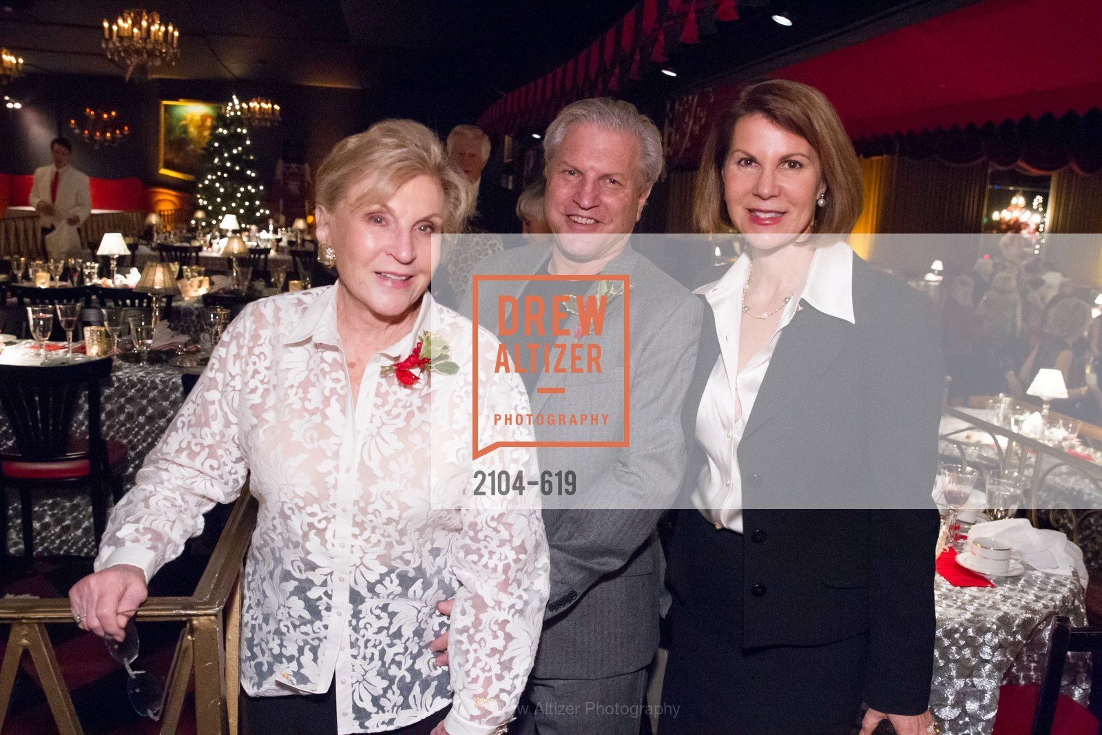 Lois Lehrman, Paul Lehrman, Katie Jarman, Shansby/Matarasso Holiday Lunch, Bimbo's 365 Club. 1025 Columbus Ave, December 4th, 2015,Drew Altizer, Drew Altizer Photography, full-service agency, private events, San Francisco photographer, photographer california