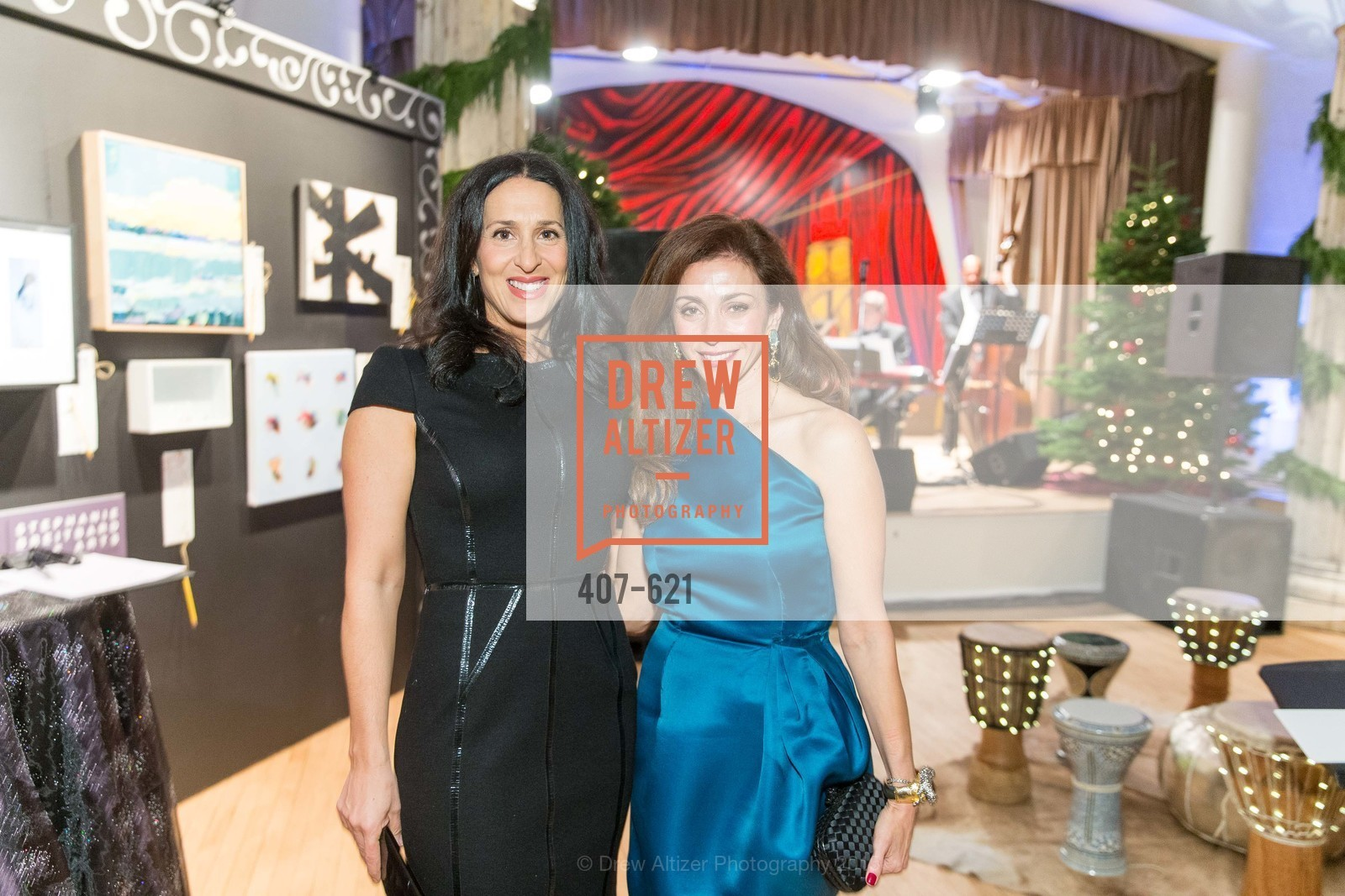 Celeen Stenzler, Maryam Muduroglu, Children of Shelters' Jingle and Mingle, Golden Gate Club. 135 Fisher Loop, December 3rd, 2015,Drew Altizer, Drew Altizer Photography, full-service agency, private events, San Francisco photographer, photographer california