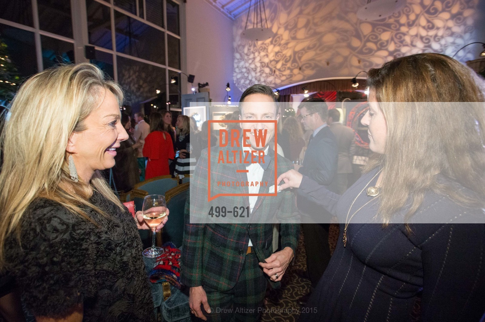 Michelle Cheatham, Ken Fulk, Liz Larned, Children of Shelters' Jingle and Mingle, Golden Gate Club. 135 Fisher Loop, December 3rd, 2015