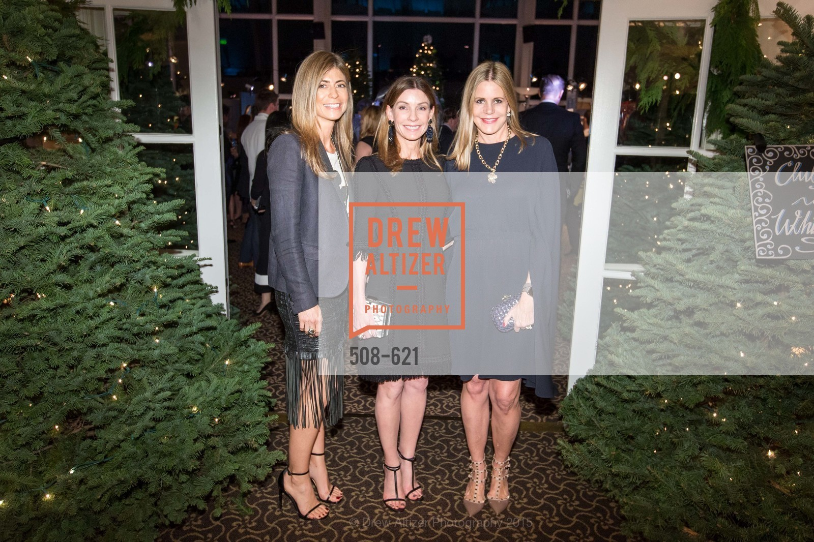 Alexandra Wells, Lisa Zanze, Mary Beth Shimmon, Children of Shelters' Jingle and Mingle, Golden Gate Club. 135 Fisher Loop, December 3rd, 2015,Drew Altizer, Drew Altizer Photography, full-service agency, private events, San Francisco photographer, photographer california