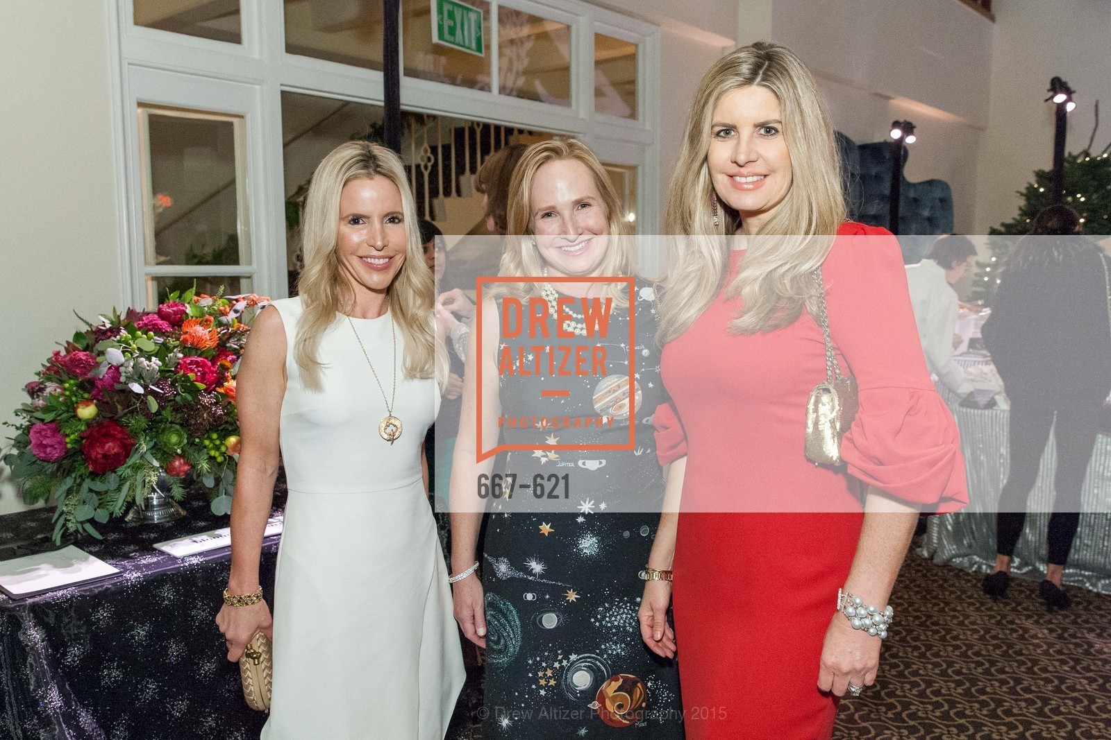 Lana Adair, Anne Pedrero, Suzanne Levit, Children of Shelters' Jingle and Mingle, Golden Gate Club. 135 Fisher Loop, December 3rd, 2015,Drew Altizer, Drew Altizer Photography, full-service agency, private events, San Francisco photographer, photographer california