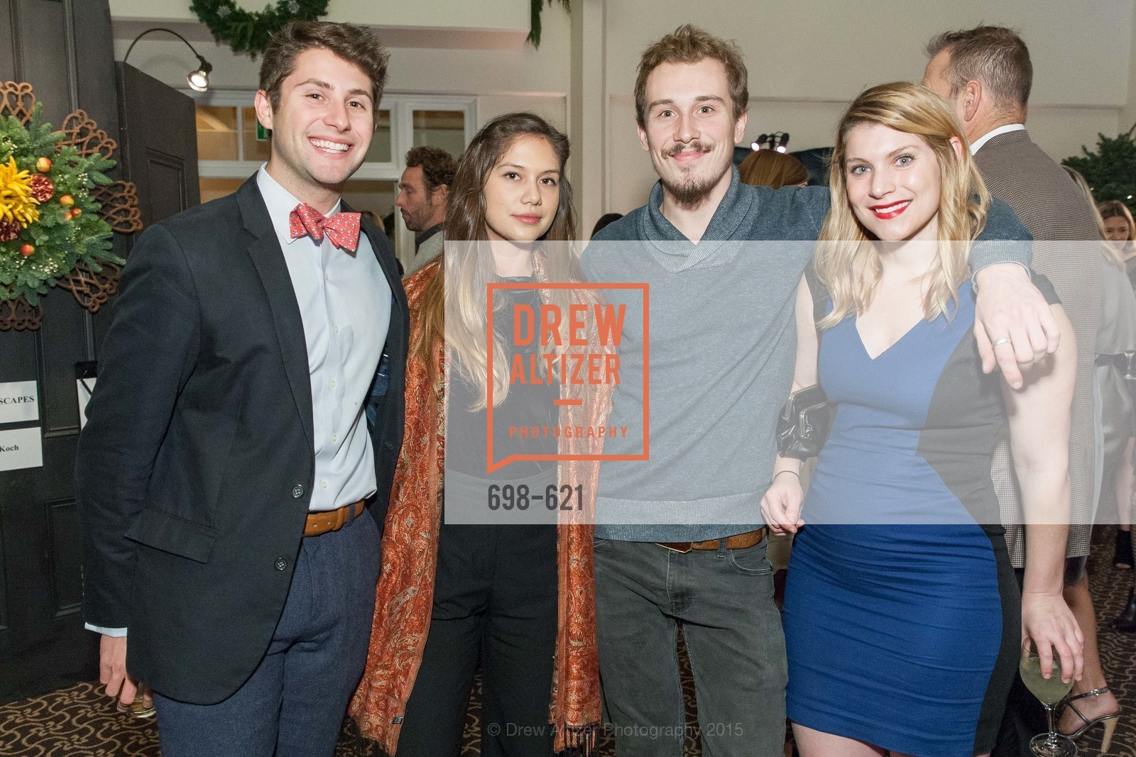 Max Bobinski, Ashley Corrigan, Benjamin Coney, Rachel Miller Crews, Children of Shelters' Jingle and Mingle, Golden Gate Club. 135 Fisher Loop, December 3rd, 2015,Drew Altizer, Drew Altizer Photography, full-service agency, private events, San Francisco photographer, photographer california