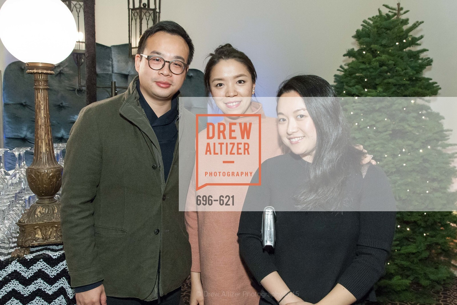 Jeff Lin, Jing Sun, Jade Sun, Children of Shelters' Jingle and Mingle, Golden Gate Club. 135 Fisher Loop, December 3rd, 2015,Drew Altizer, Drew Altizer Photography, full-service agency, private events, San Francisco photographer, photographer california