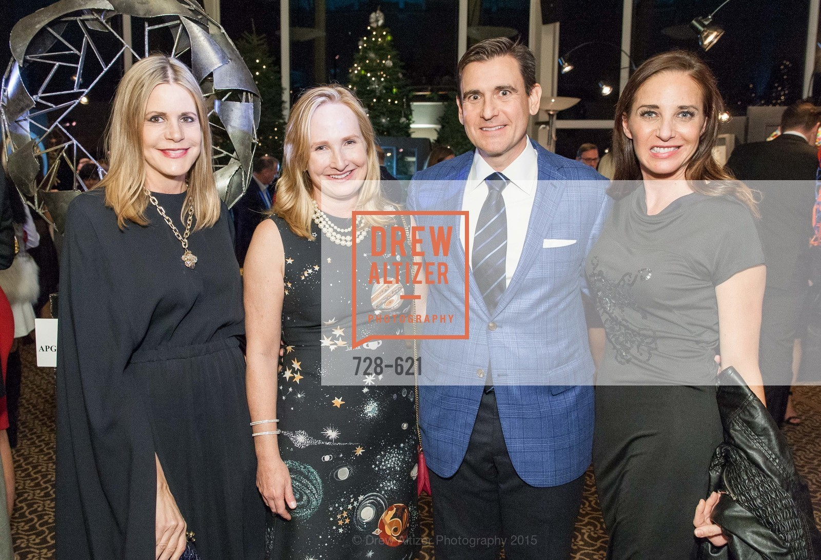 Mary Beth Shimmon, Anne Pedrero, Robert Pedrero, Kimberly Veley, Children of Shelters' Jingle and Mingle, Golden Gate Club. 135 Fisher Loop, December 3rd, 2015,Drew Altizer, Drew Altizer Photography, full-service agency, private events, San Francisco photographer, photographer california