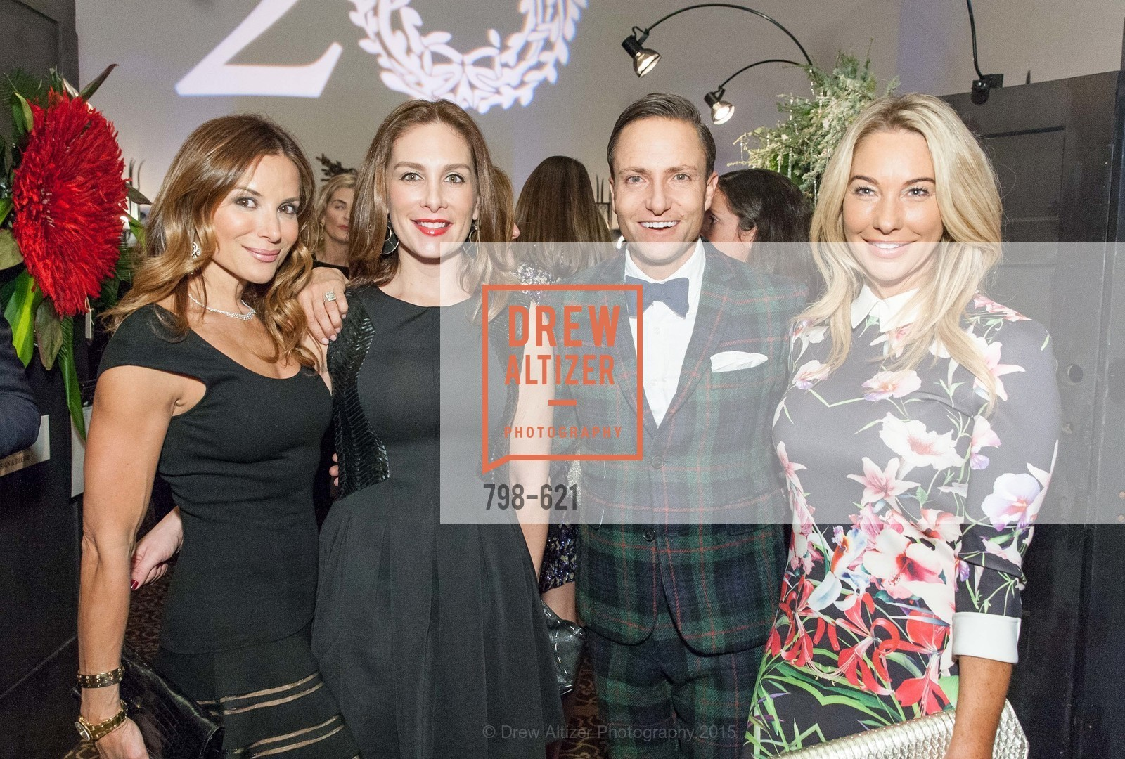 Claudia Ross, Stefanie Roumeliotes, Ken Fulk, Tiffany Cummins, Children of Shelters' Jingle and Mingle, Golden Gate Club. 135 Fisher Loop, December 3rd, 2015,Drew Altizer, Drew Altizer Photography, full-service agency, private events, San Francisco photographer, photographer california