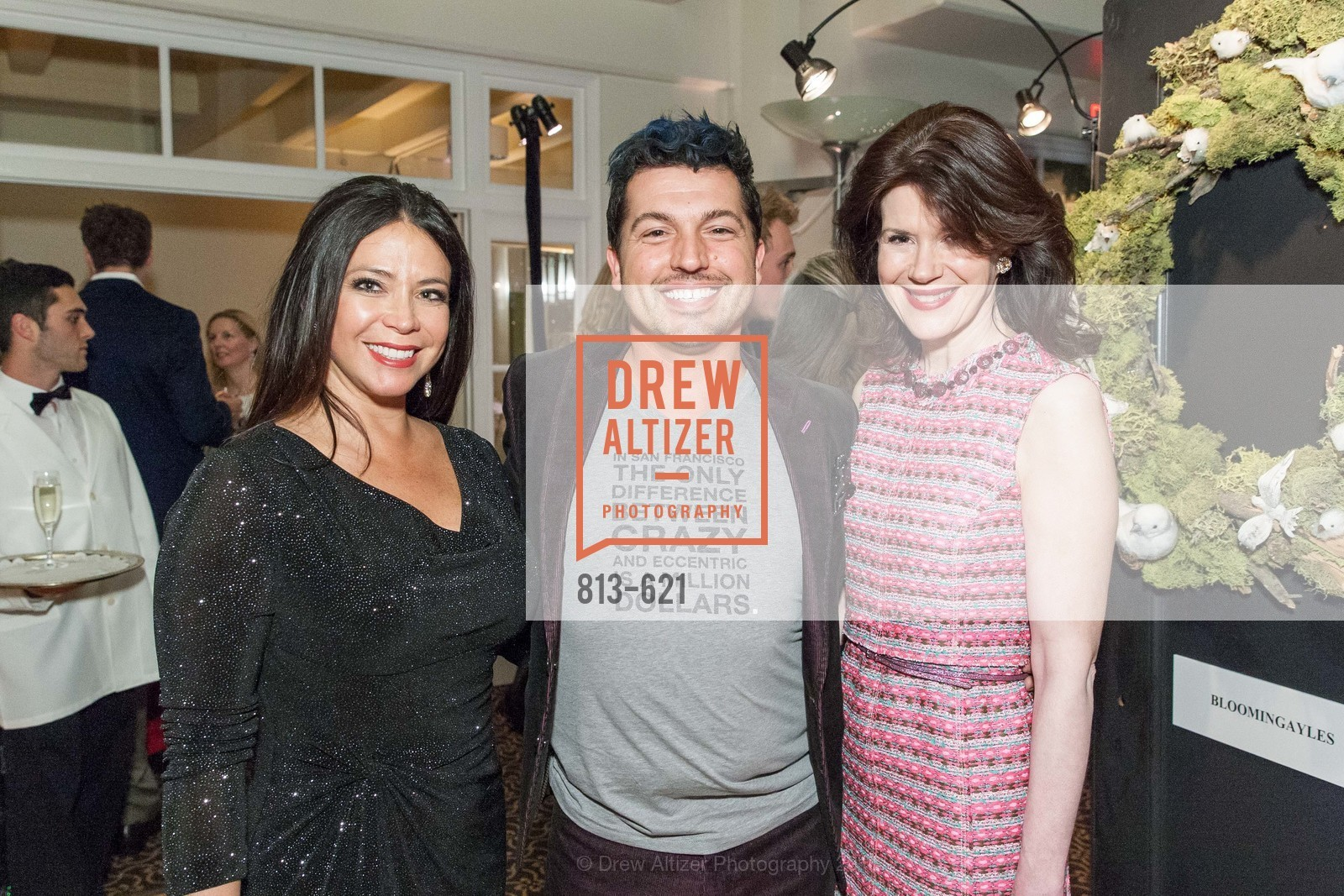 Maria Barrios, Jake Wall, Elaine Mellis, Children of Shelters' Jingle and Mingle, Golden Gate Club. 135 Fisher Loop, December 3rd, 2015,Drew Altizer, Drew Altizer Photography, full-service agency, private events, San Francisco photographer, photographer california