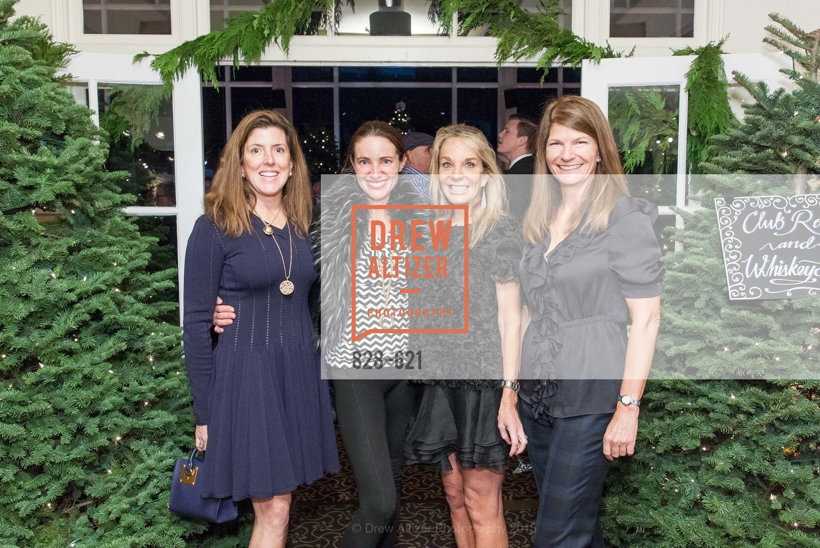 Liz Larned, Anne Laury, Michelle Cheatham, Martha Ehmann Conte, Children of Shelters' Jingle and Mingle, Golden Gate Club. 135 Fisher Loop, December 3rd, 2015,Drew Altizer, Drew Altizer Photography, full-service agency, private events, San Francisco photographer, photographer california